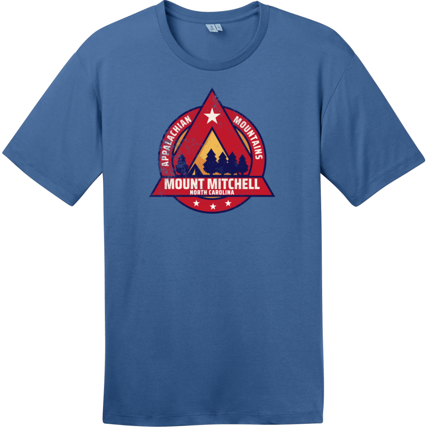 Mount Mitchell North Carolina Camping T-Shirt Maritime Blue District Perfect Weight Tee DT104