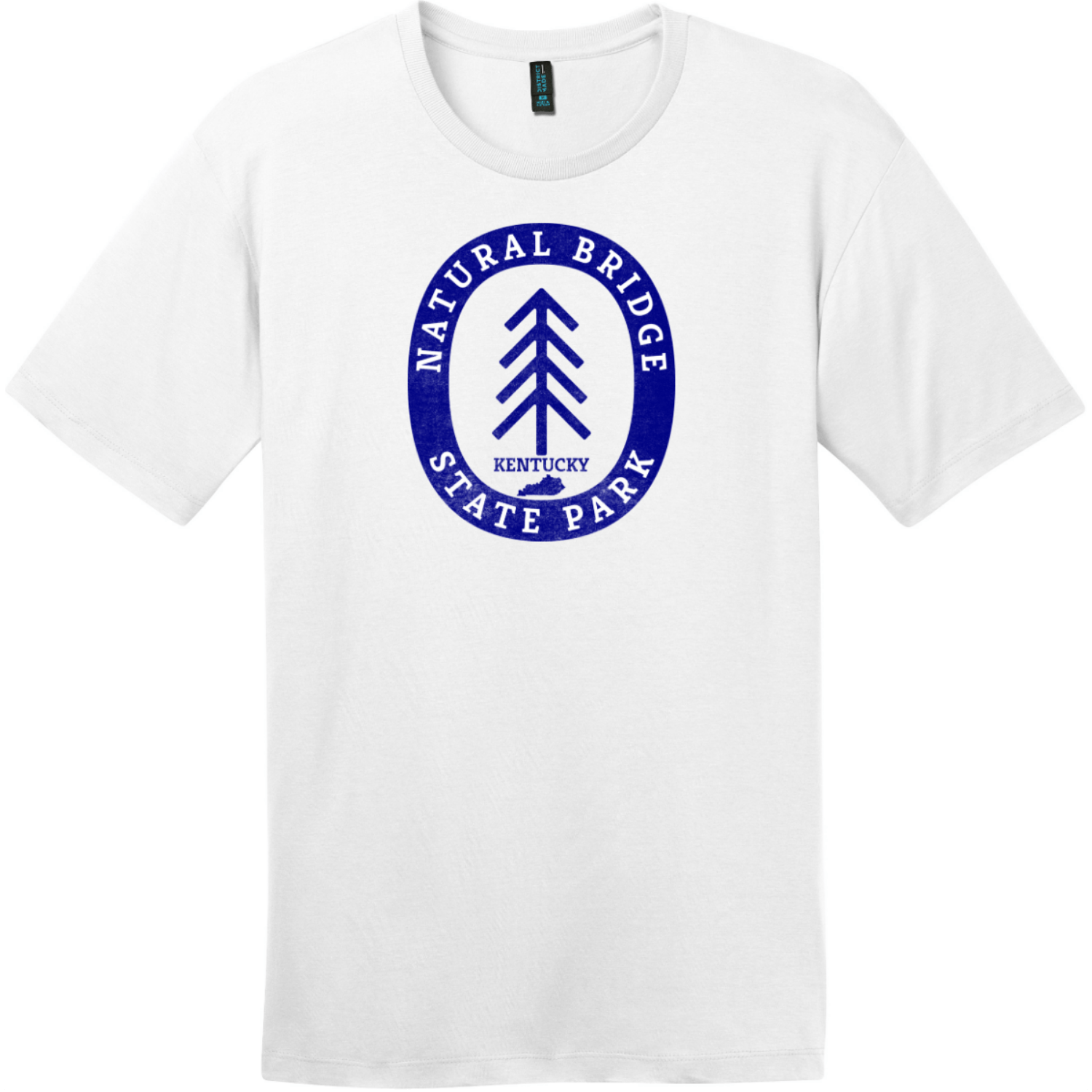 Natural Bridge State Park T-Shirt Bright White District Perfect Weight Tee DT104