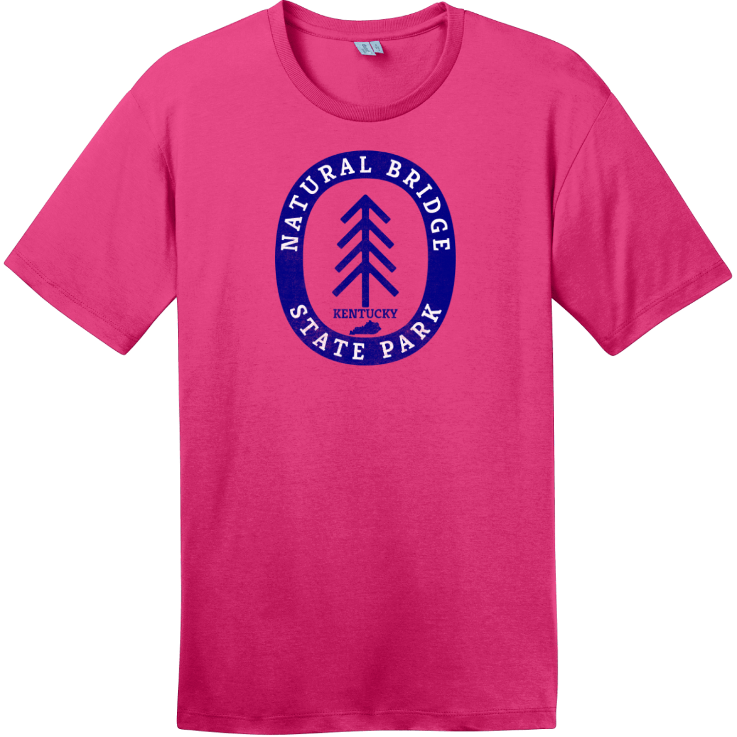 Natural Bridge State Park T-Shirt Dark Fuchsia District Perfect Weight Tee DT104