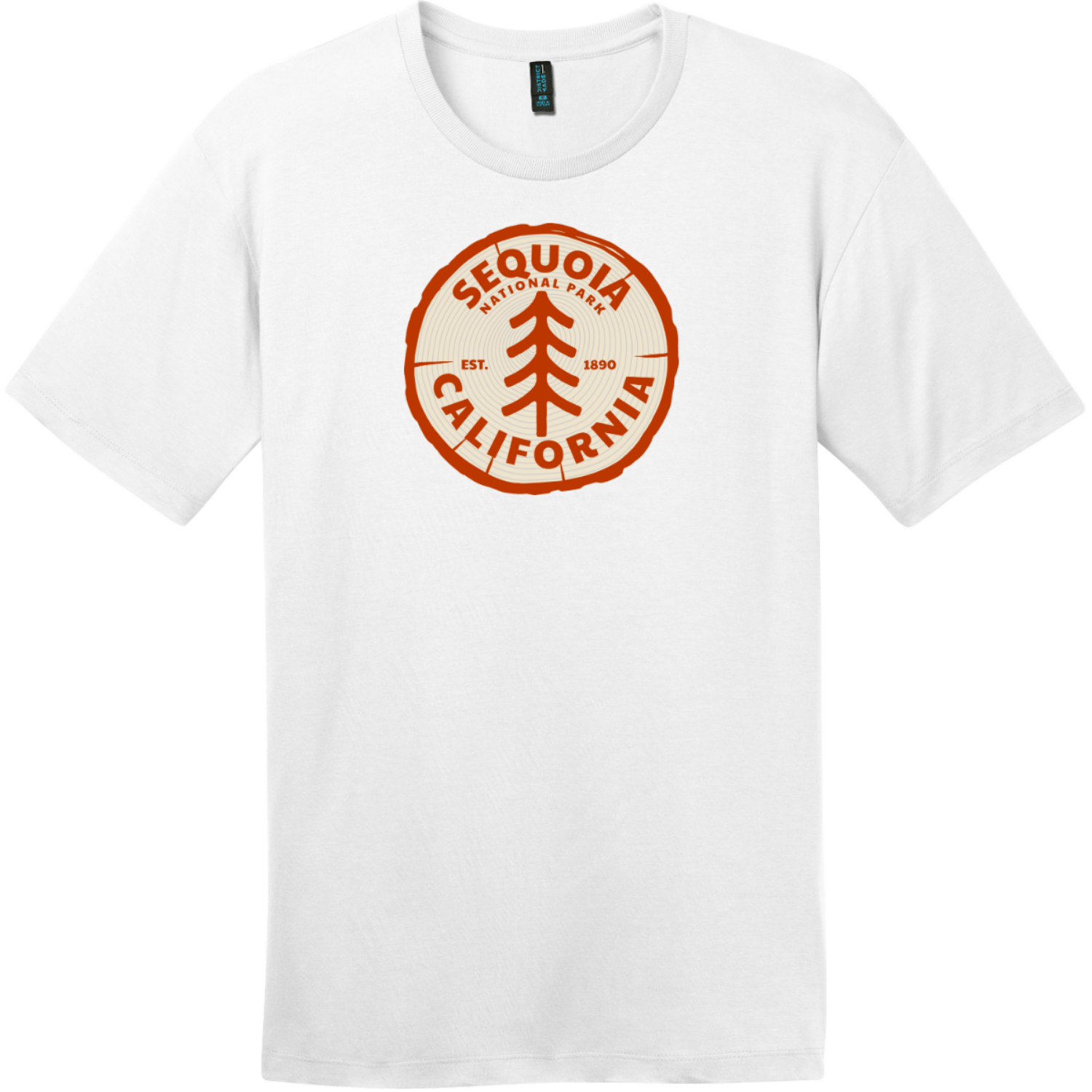 Sequoia National Park California Tree T-Shirt Bright White District Perfect Weight Tee DT104