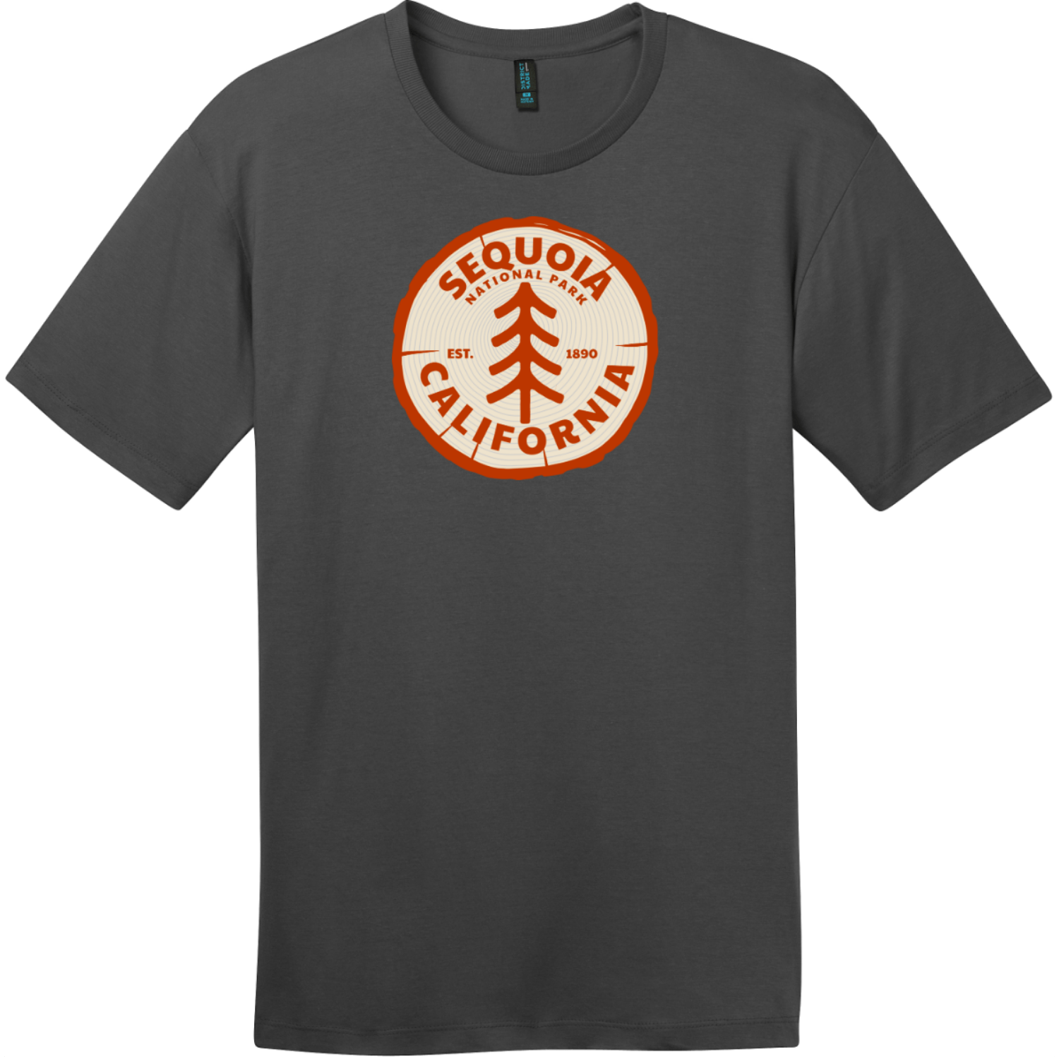 Sequoia National Park California Tree T-Shirt Charcoal District Perfect Weight Tee DT104