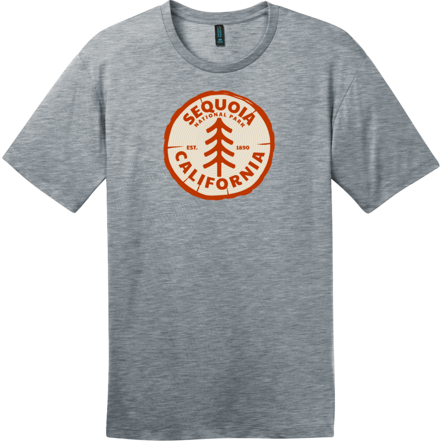 Sequoia National Park California Tree T-Shirt Heathered Steel District Perfect Weight Tee DT104