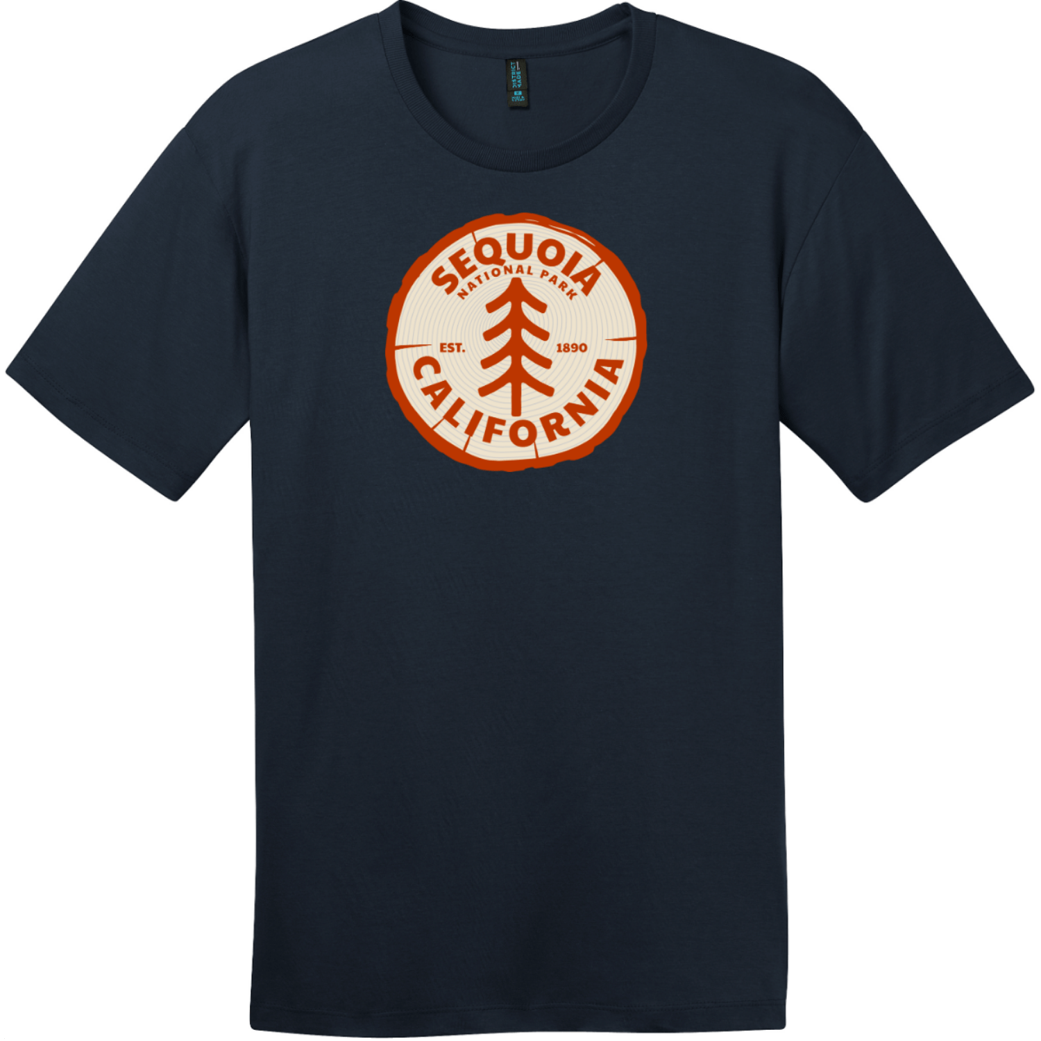Sequoia National Park California Tree T-Shirt New Navy District Perfect Weight Tee DT104