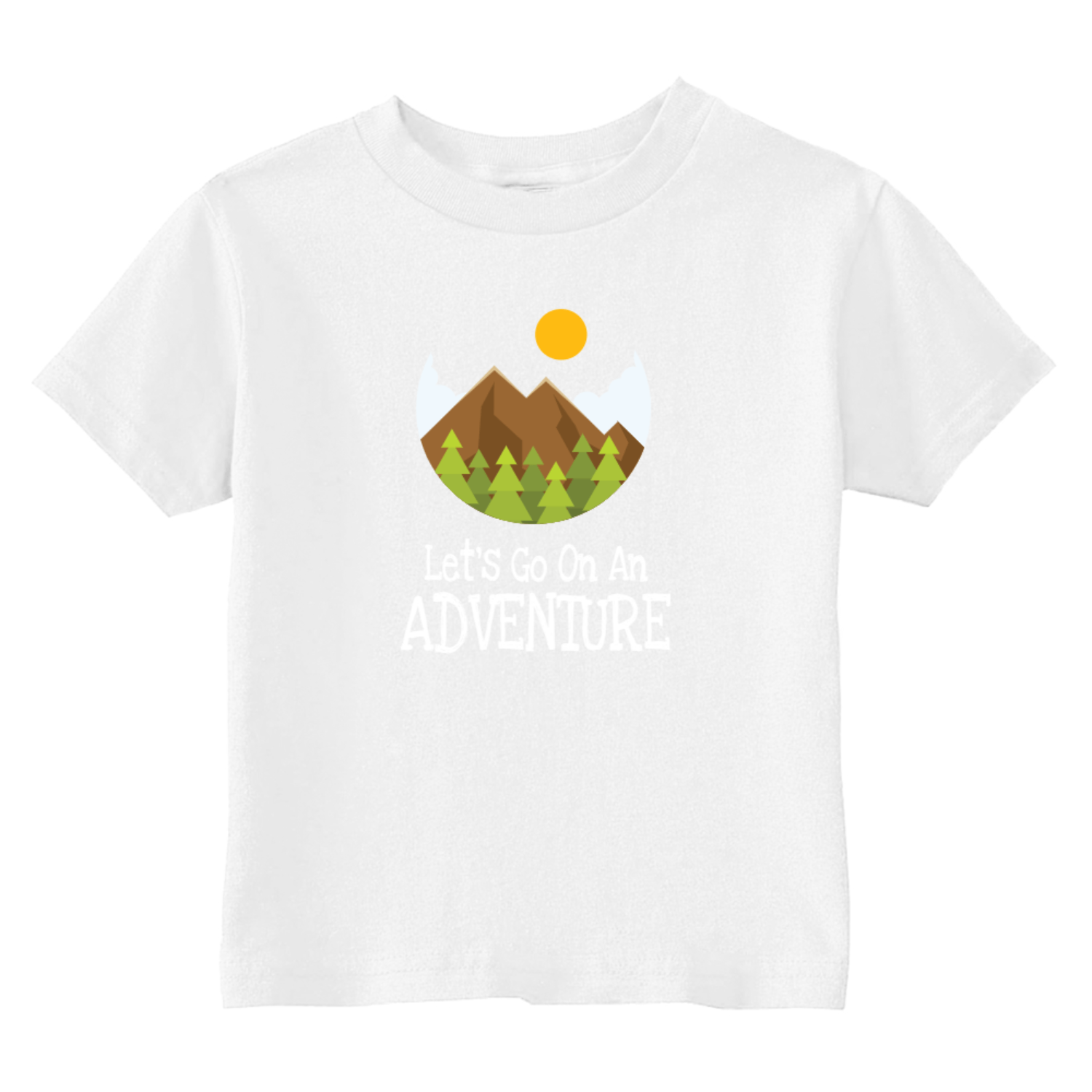 Let's Go On An Adventure Hiking Toddler T-Shirt White