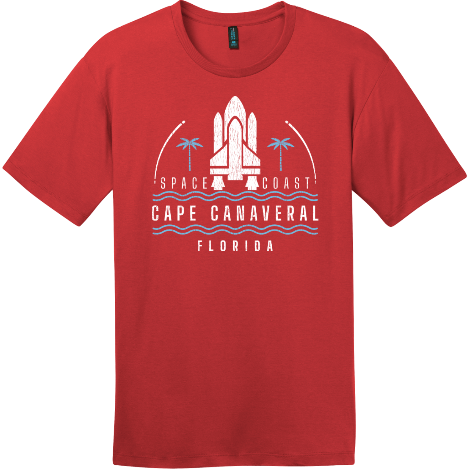 Cape Canaveral Space Coast Vintage T-Shirt Classic Red District Perfect Weight Tee DT104