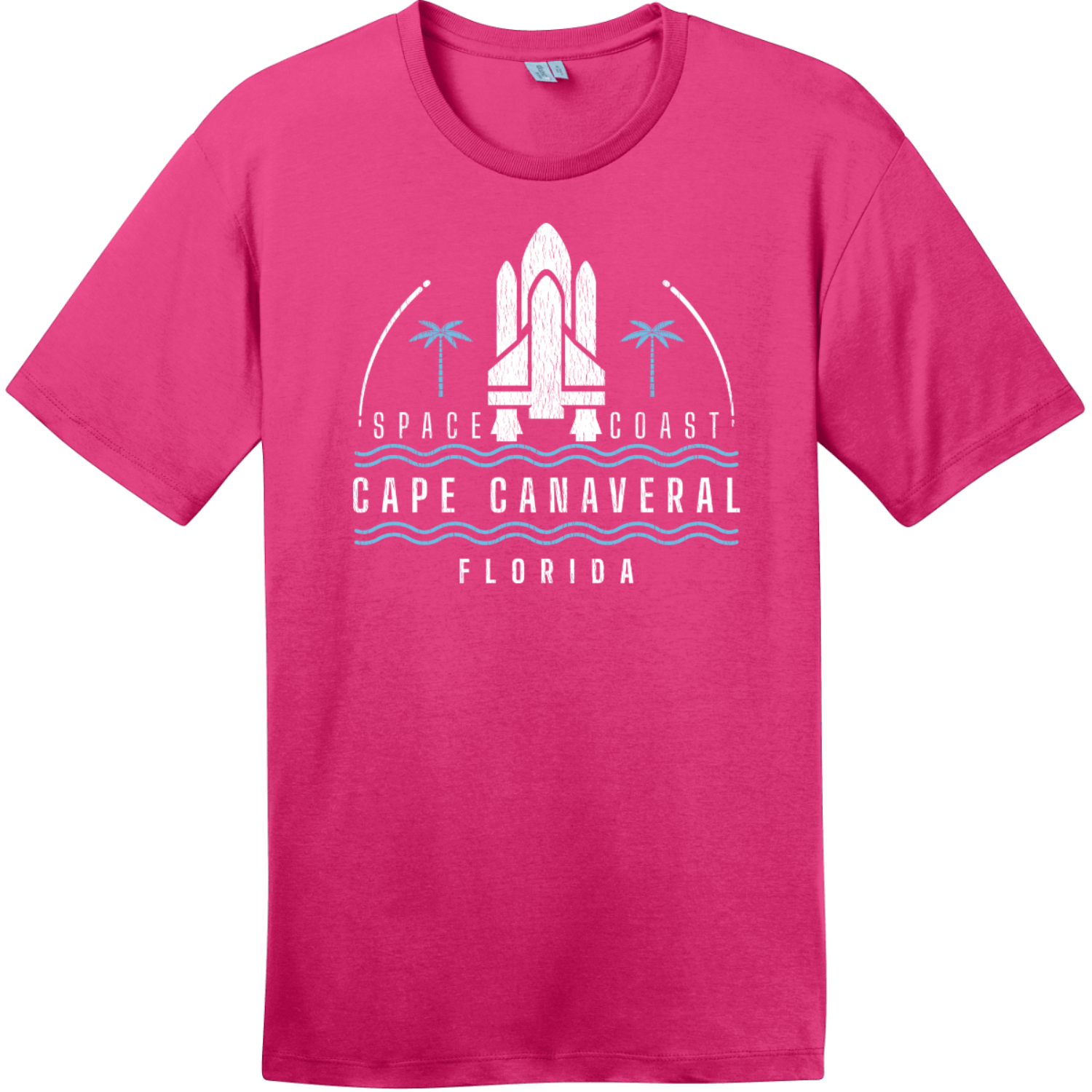 Cape Canaveral Space Coast Vintage T-Shirt Dark Fuchsia District Perfect Weight Tee DT104