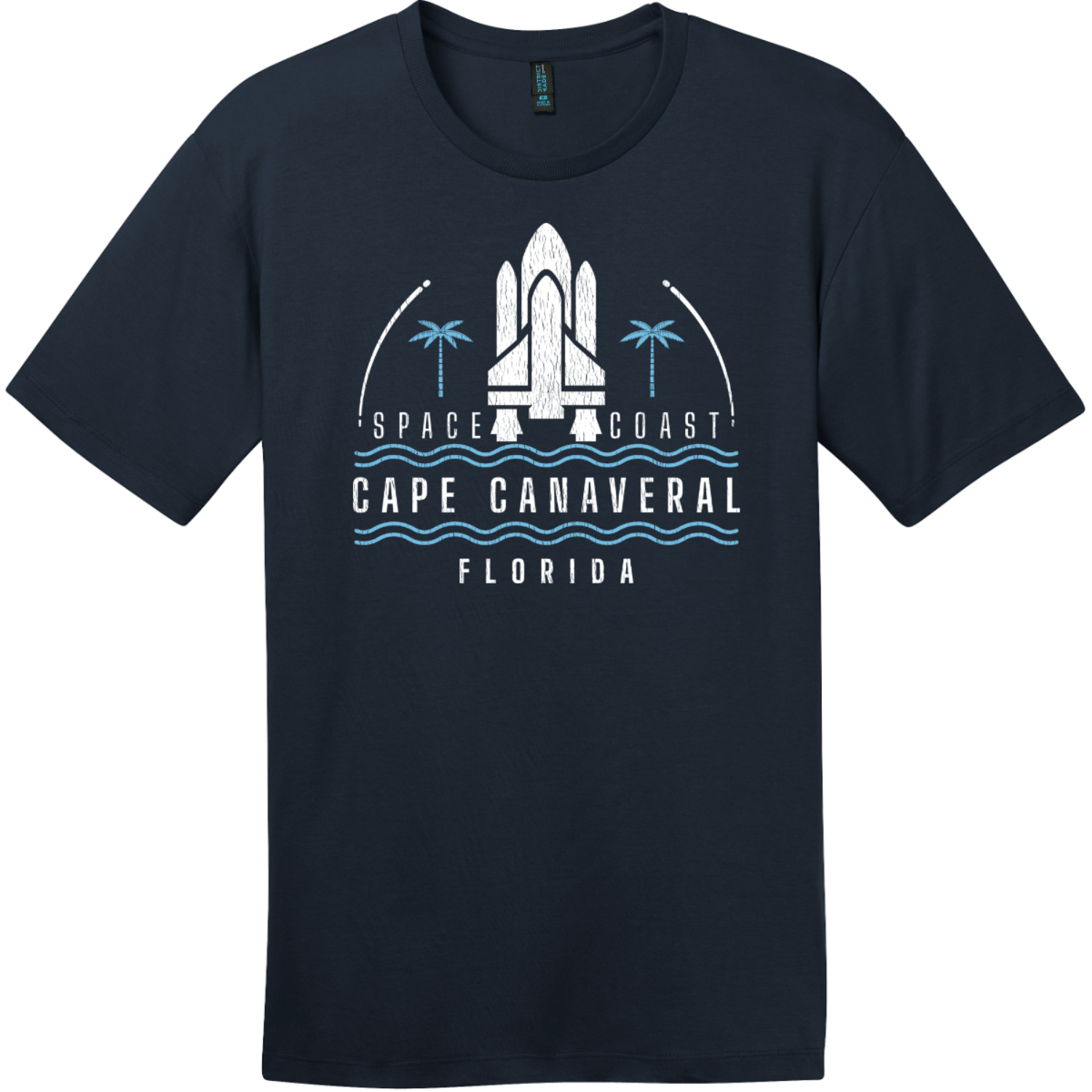 Cape Canaveral Space Coast Vintage T-Shirt New Navy District Perfect Weight Tee DT104