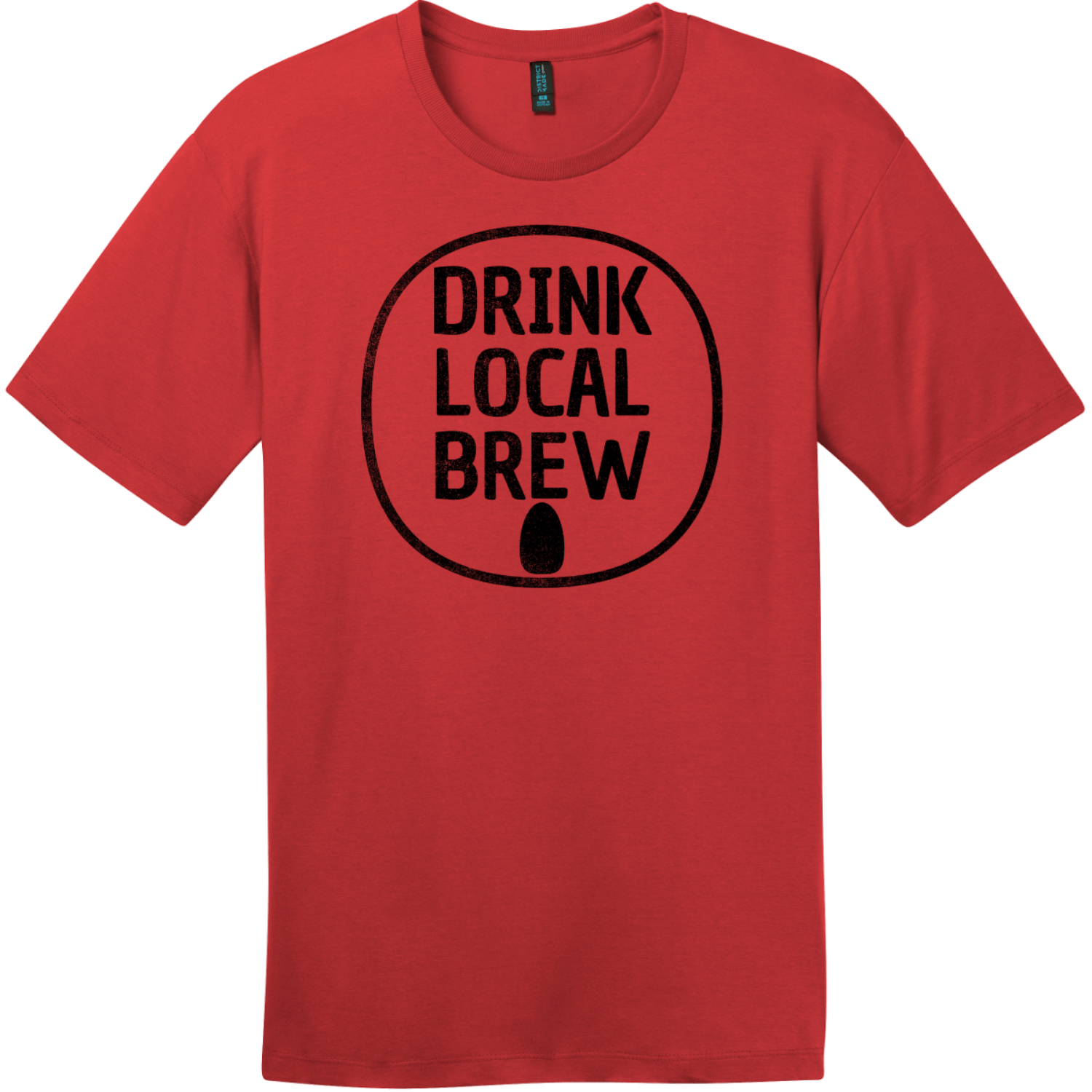 Drink Local Brew Can T-Shirt Classic Red District Perfect Weight Tee DT104