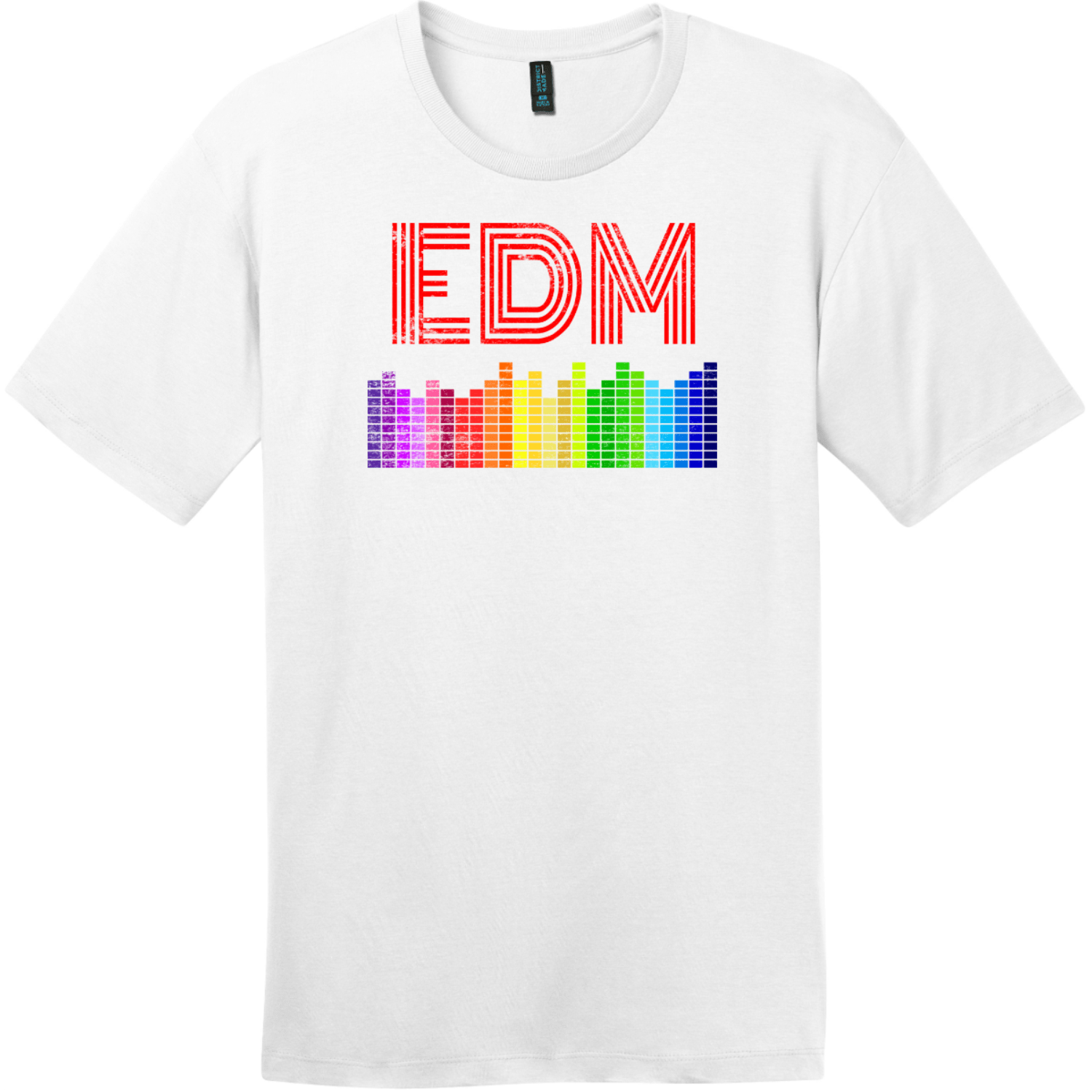 EDM Electronic Dance Music T-Shirt Bright White District Perfect Weight Tee DT104