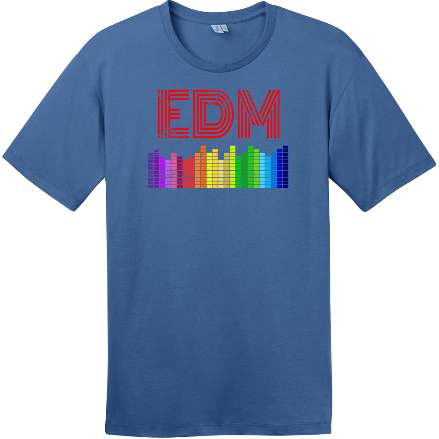 EDM Electronic Dance Music T-Shirt Maritime Blue District Perfect Weight Tee DT104