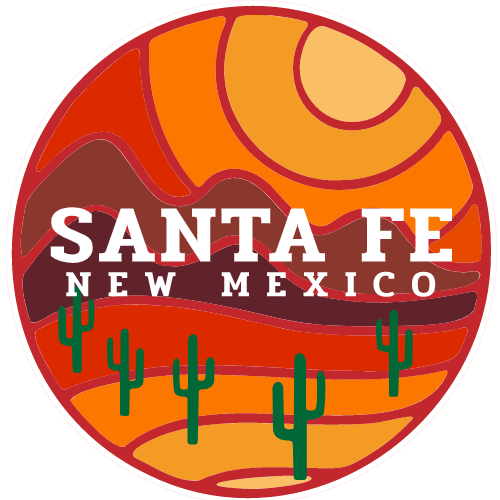 Santa Fe New Mexico Desert To Mountains Sticker | U.S. Custom Stickers