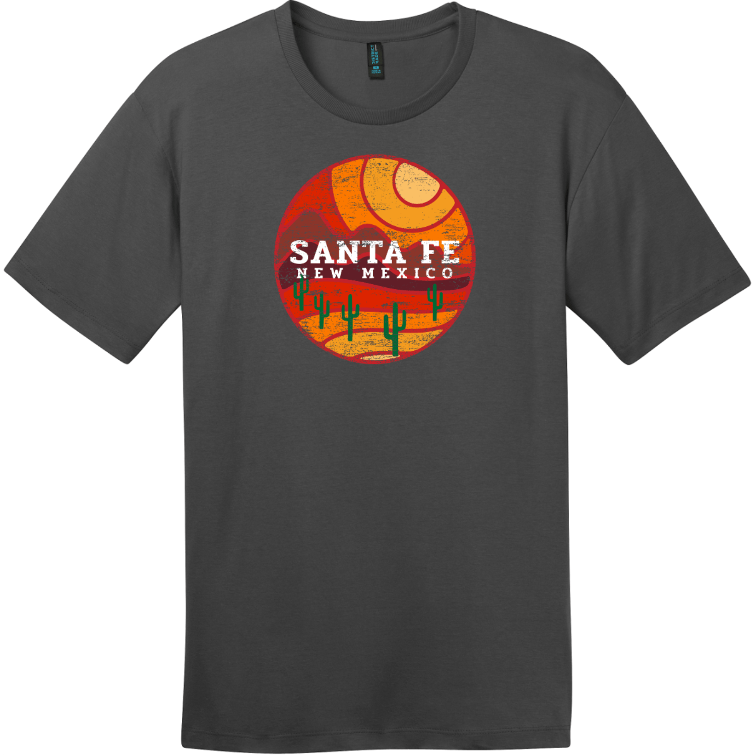 Santa Fe New Mexico Desert To Mountains Vintage T-Shirt Charcoal District Perfect Weight Tee DT104