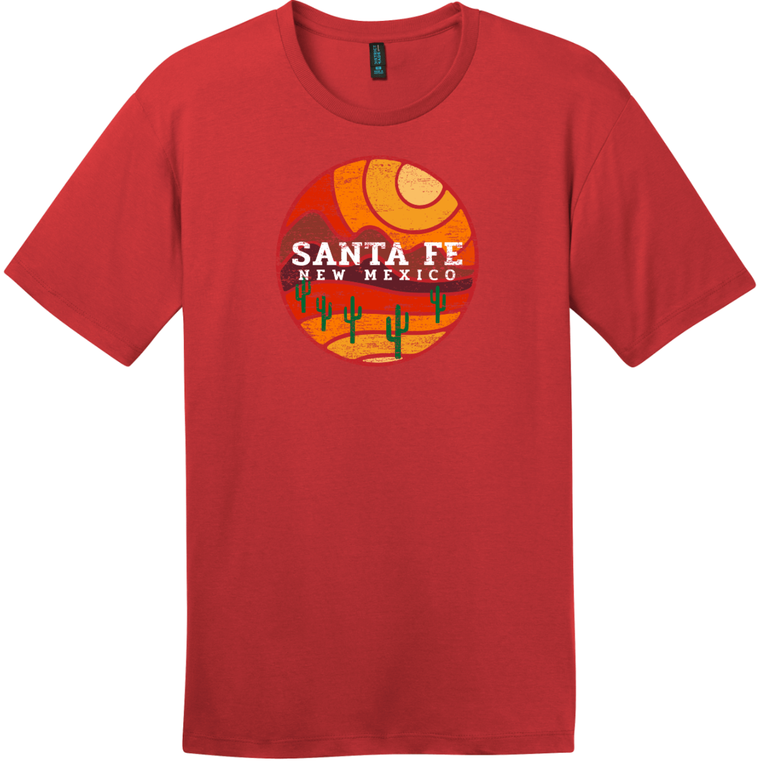 Santa Fe New Mexico Desert To Mountains Vintage T-Shirt Classic Red District Perfect Weight Tee DT104