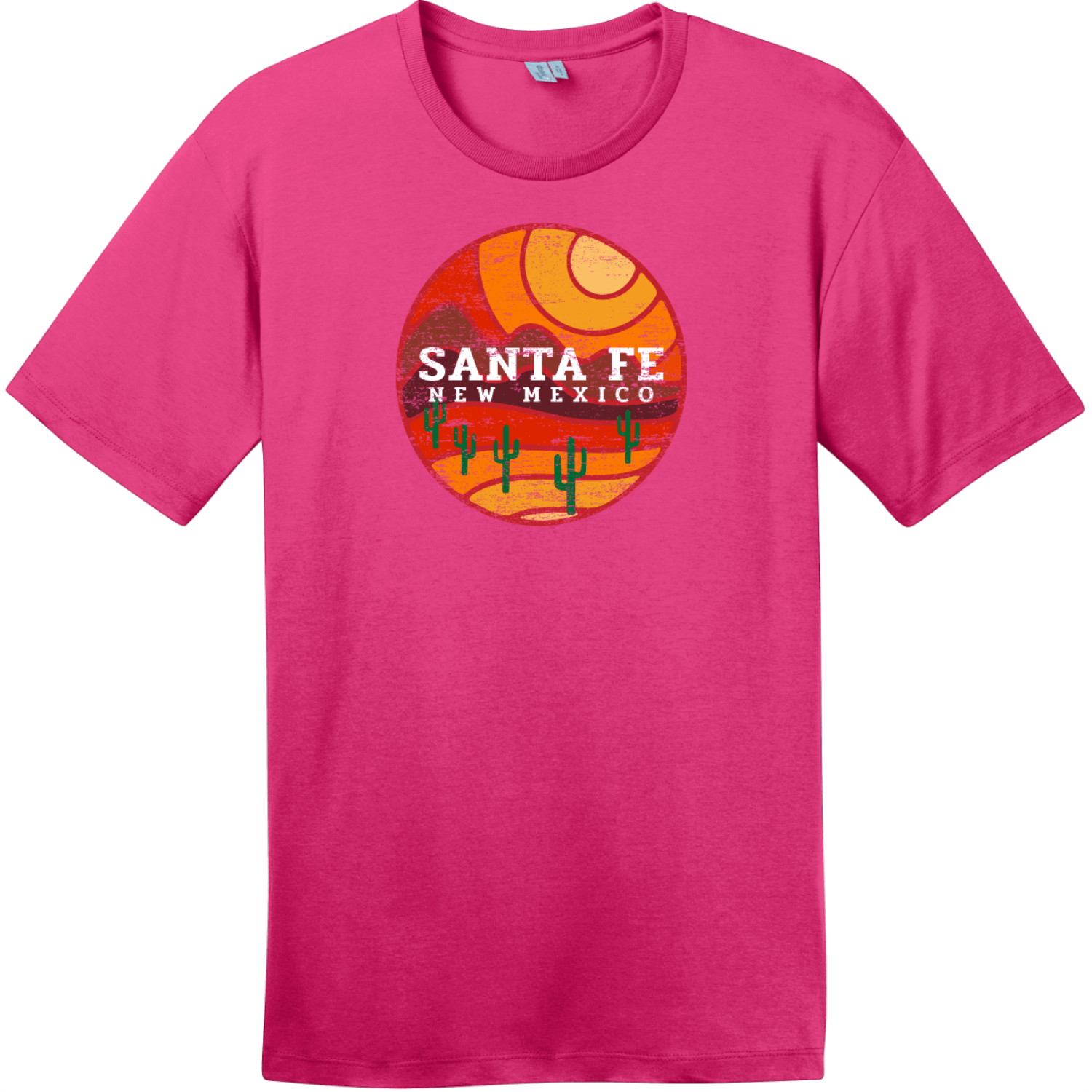 Santa Fe New Mexico Desert To Mountains Vintage T-Shirt Dark Fuchsia District Perfect Weight Tee DT104