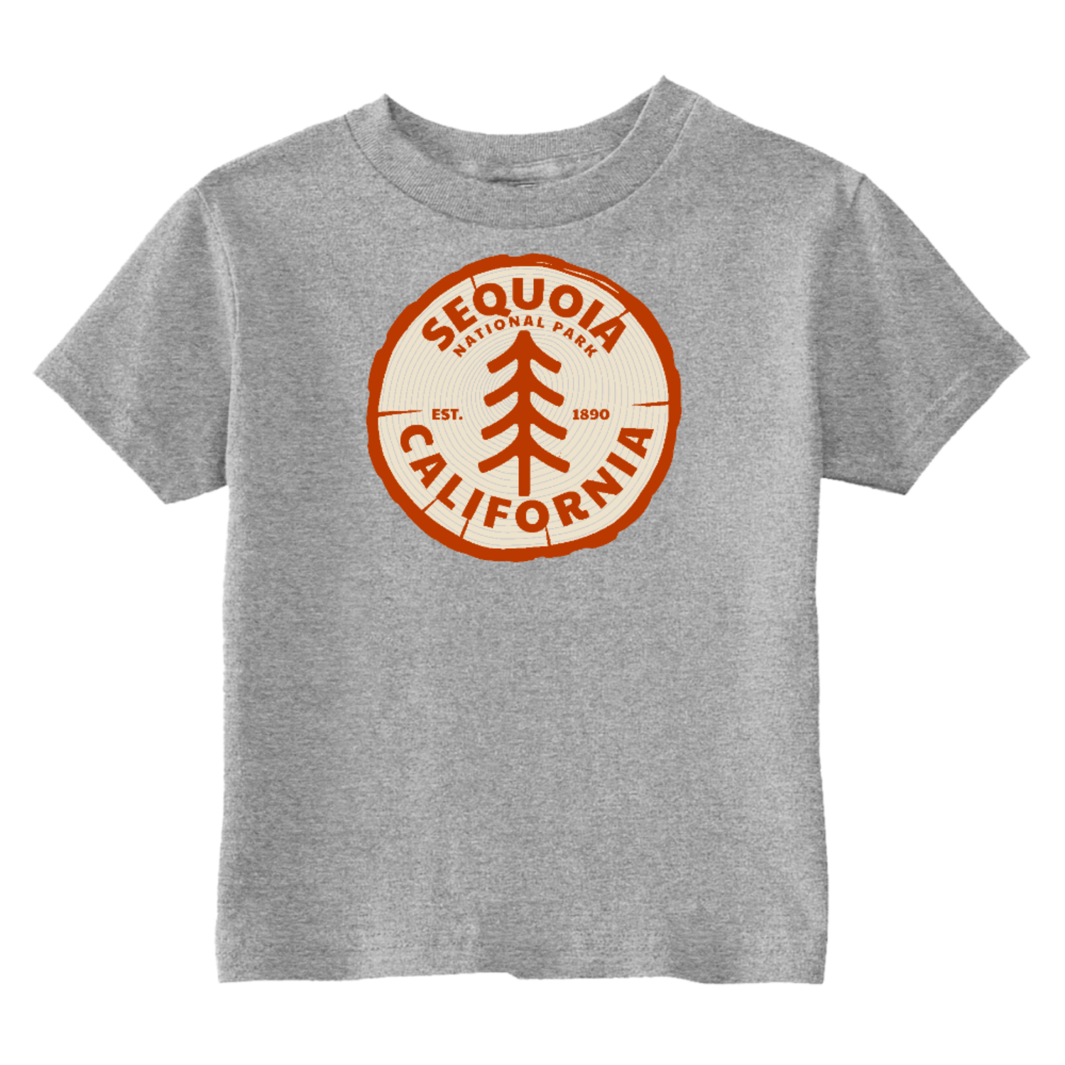 Sequoia National Park Toddler T-Shirt Gray