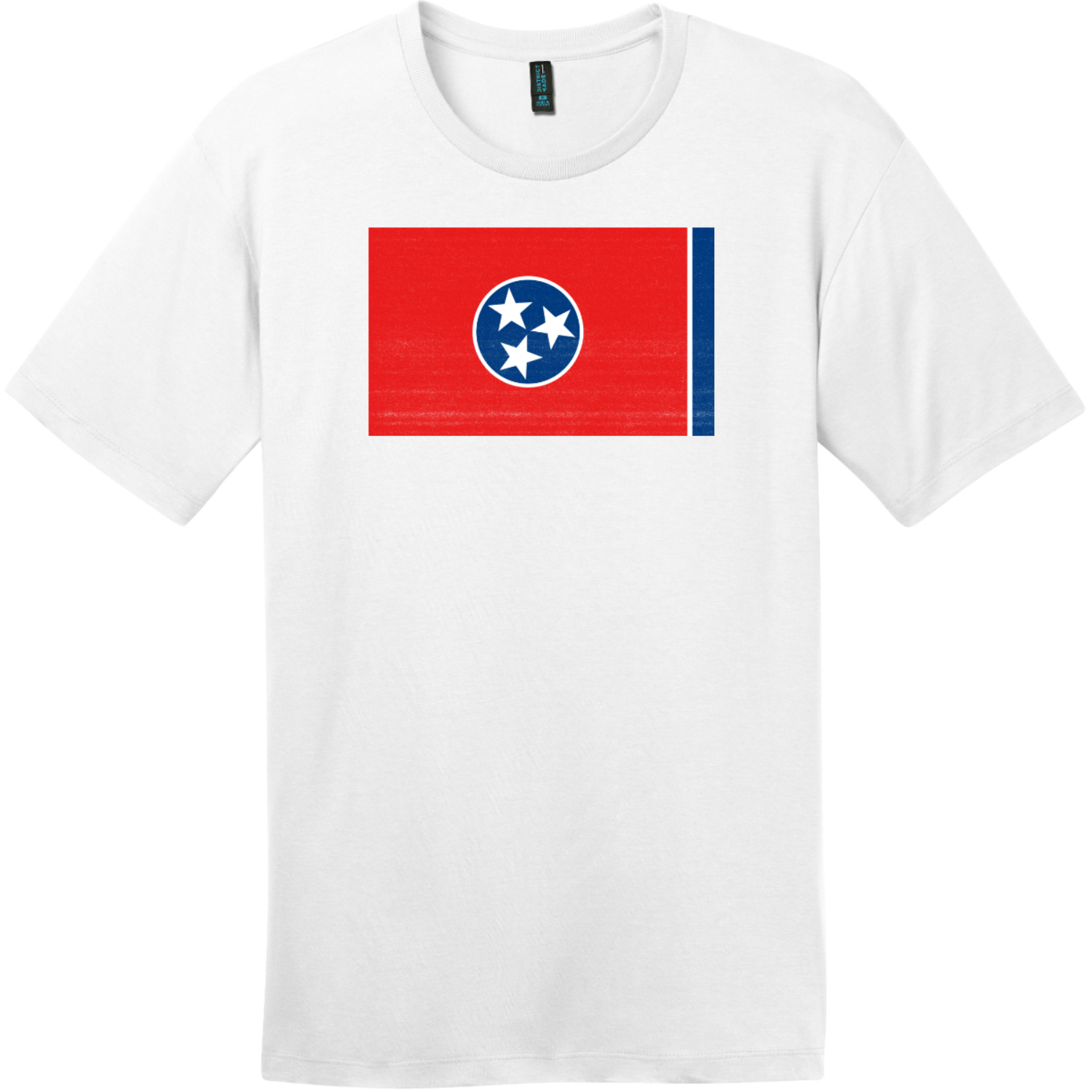 Tennessee State Flag Vintage T-Shirt Bright White District Perfect Weight Tee DT104