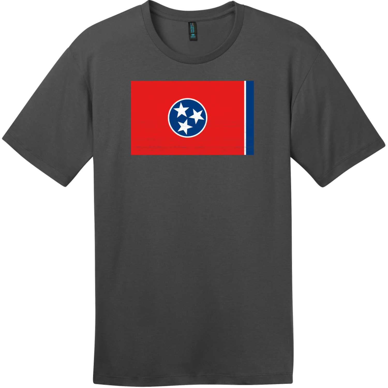 Tennessee State Flag Vintage T-Shirt Charcoal District Perfect Weight Tee DT104