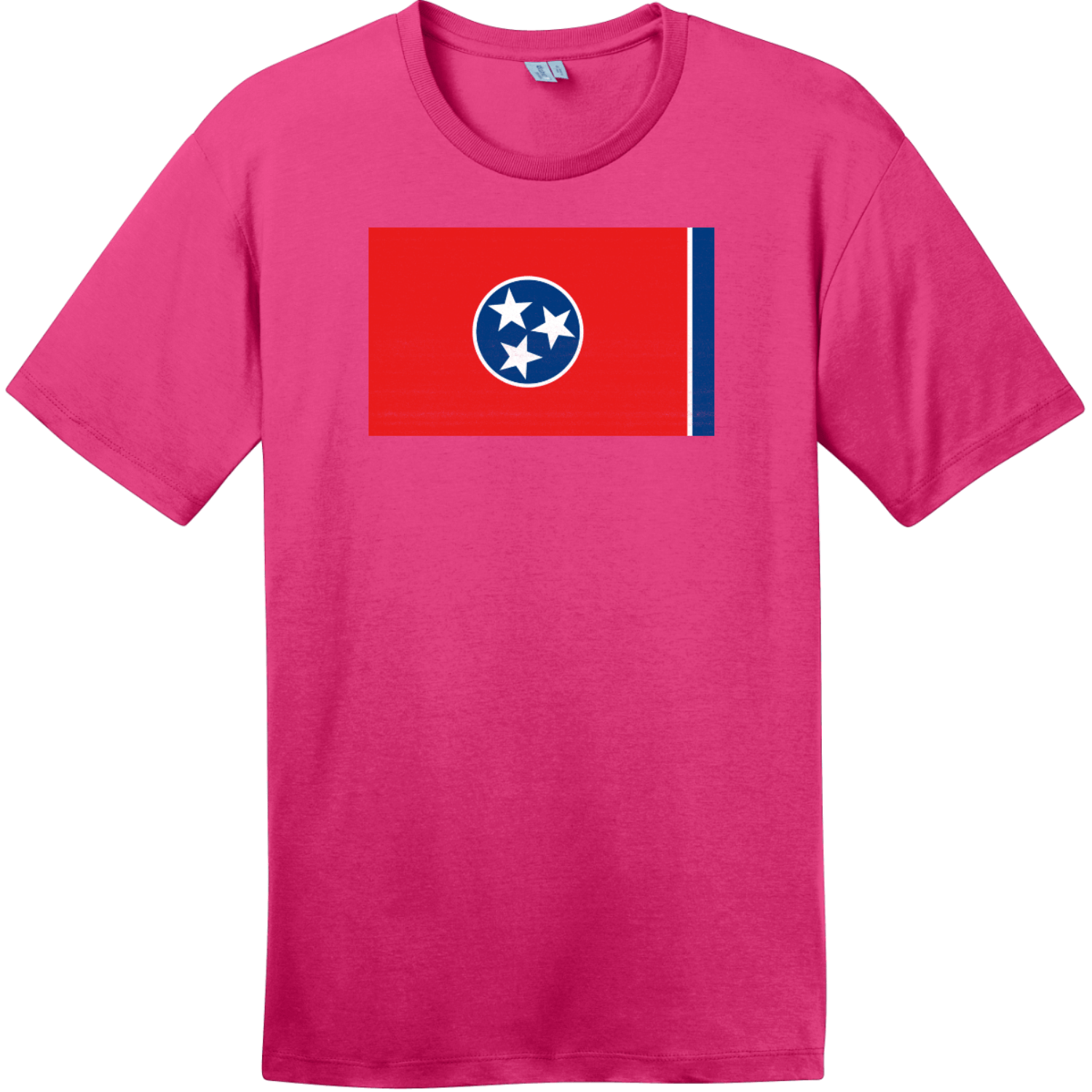 Tennessee State Flag Vintage T-Shirt Dark Fuchsia District Perfect Weight Tee DT104