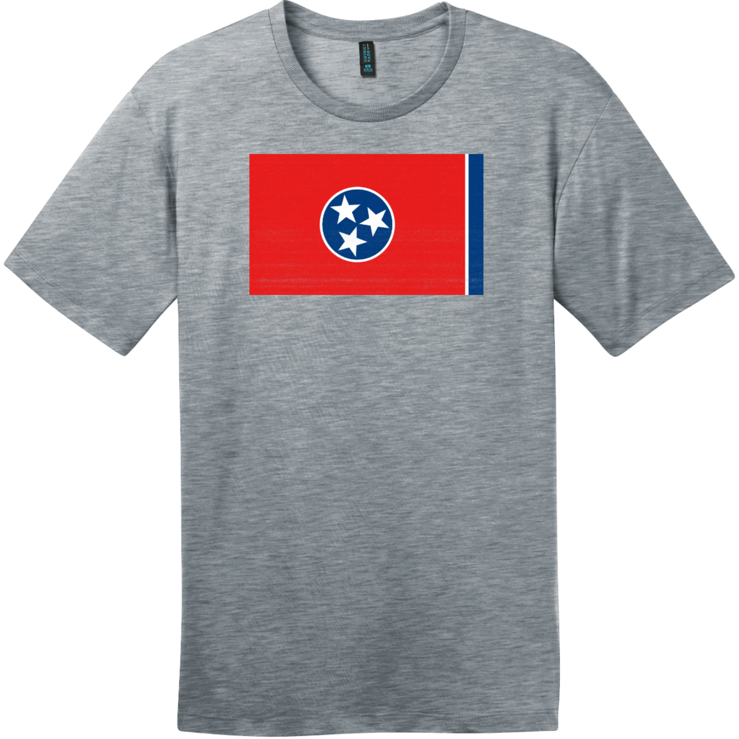 Tennessee State Flag Vintage T-Shirt Heathered Steel District Perfect Weight Tee DT104