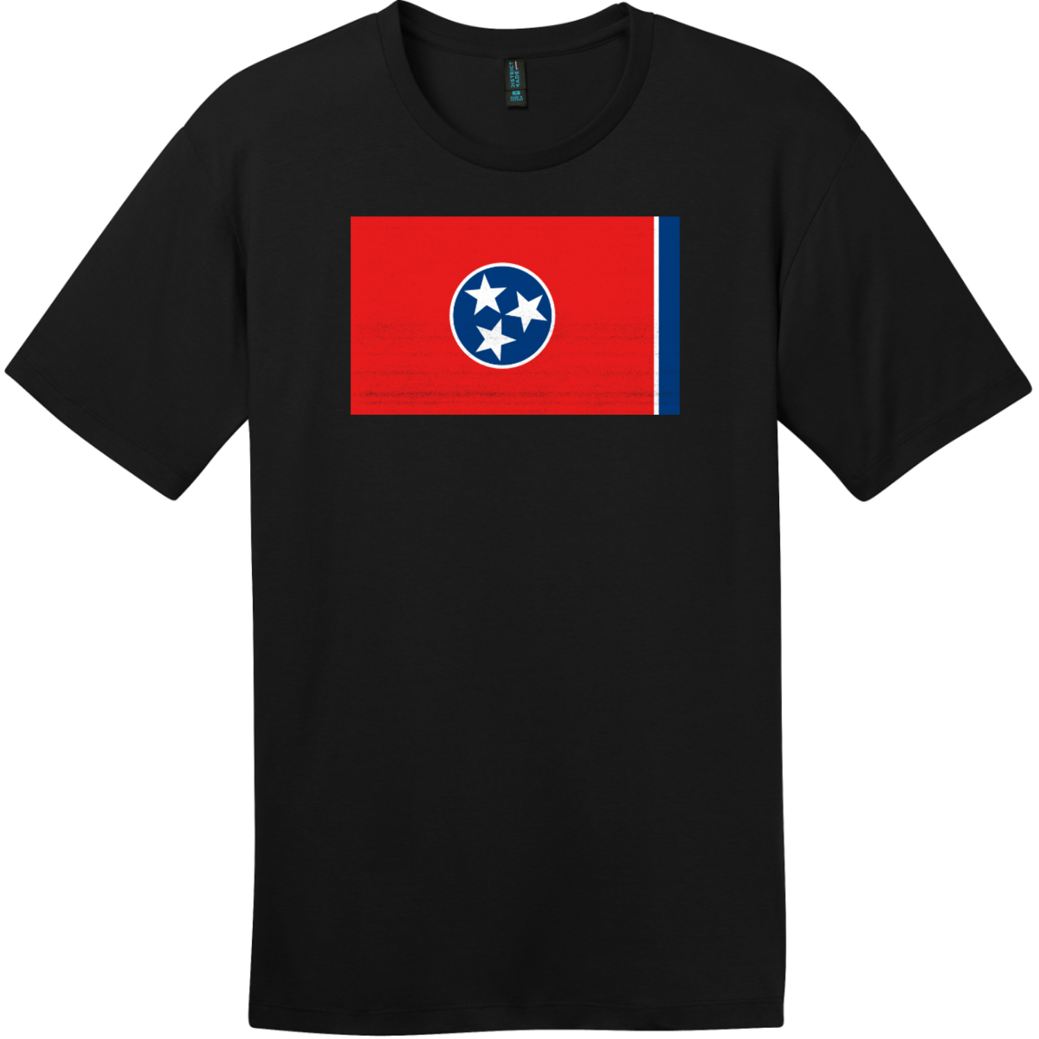 Tennessee State Flag Vintage T-Shirt Jet Black District Perfect Weight Tee DT104