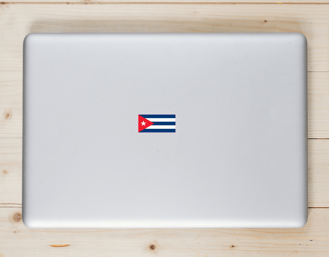 Cuba Flag Sticker Laptop Sticker
