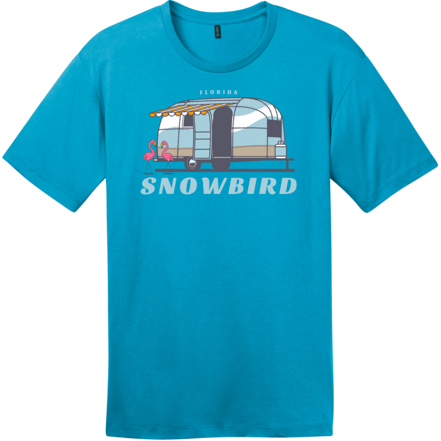 Florida Snowbird T-Shirt Bright Turquoise District Perfect Weight Tee DT104