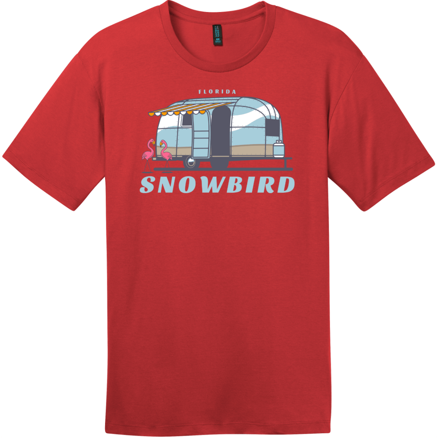 Florida Snowbird T-Shirt Classic Red District Perfect Weight Tee DT104