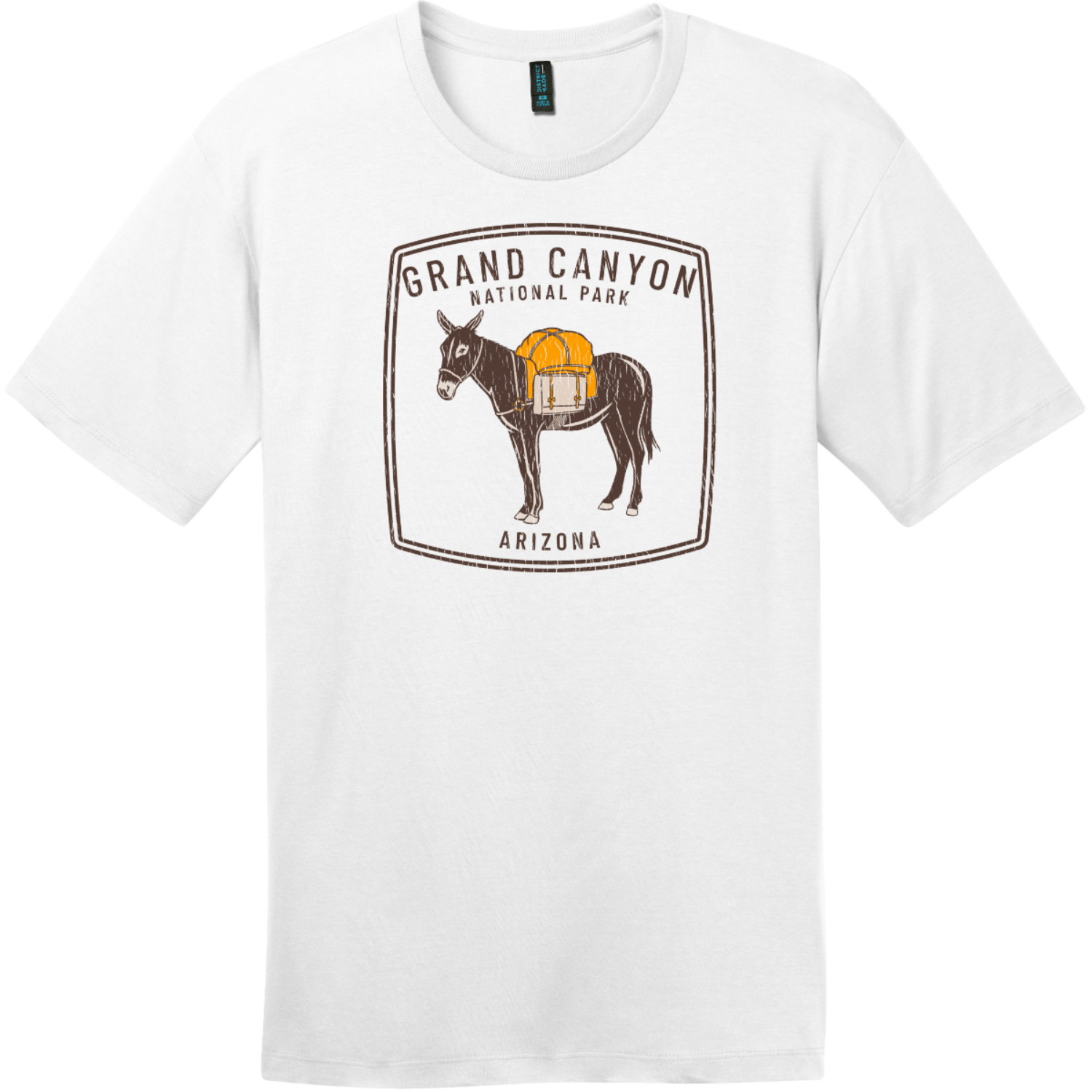 Grand Canyon National Park Donkey Vintage T-Shirt Bright White District Perfect Weight Tee DT104
