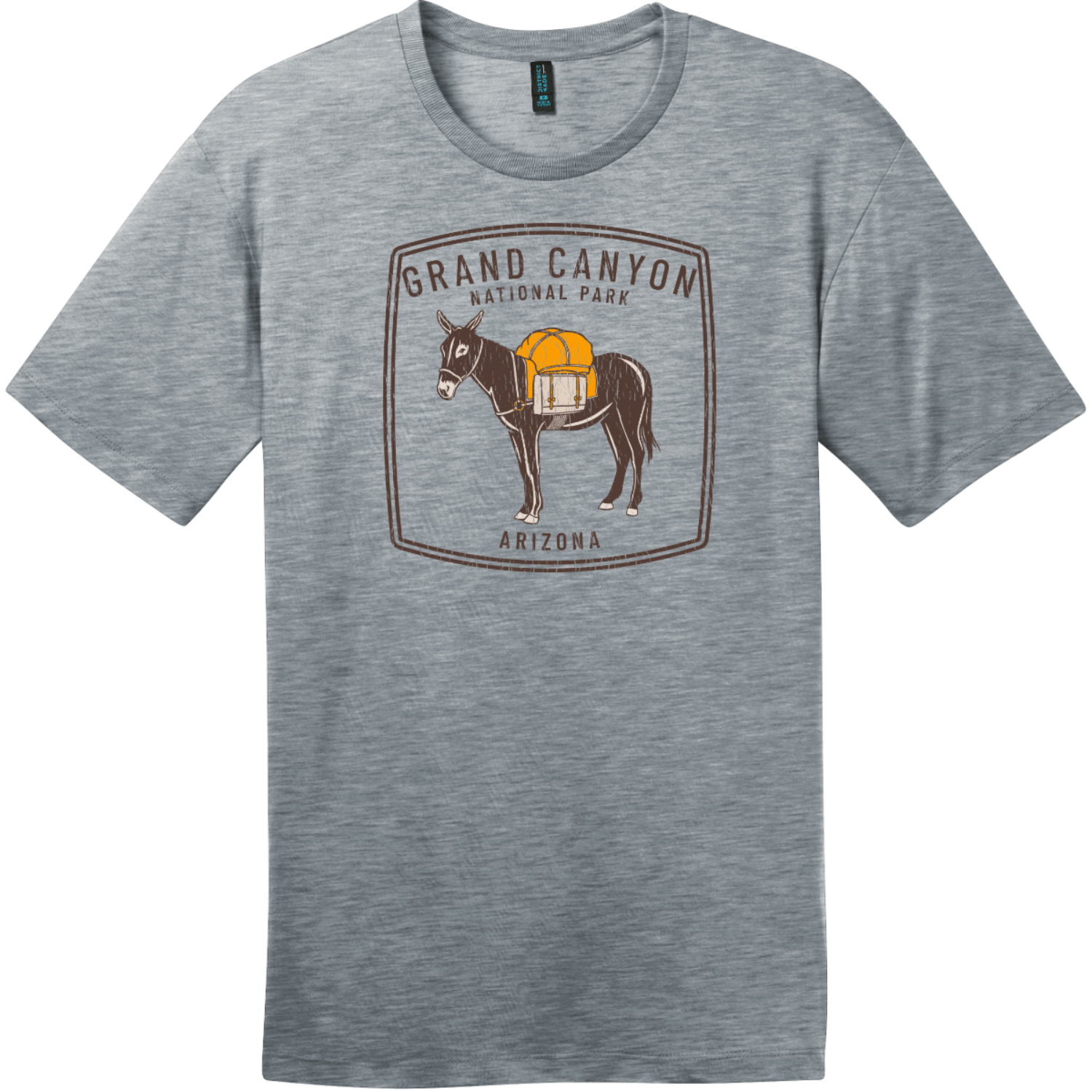 Grand Canyon National Park Donkey Vintage T-Shirt Heathered Steel District Perfect Weight Tee DT104