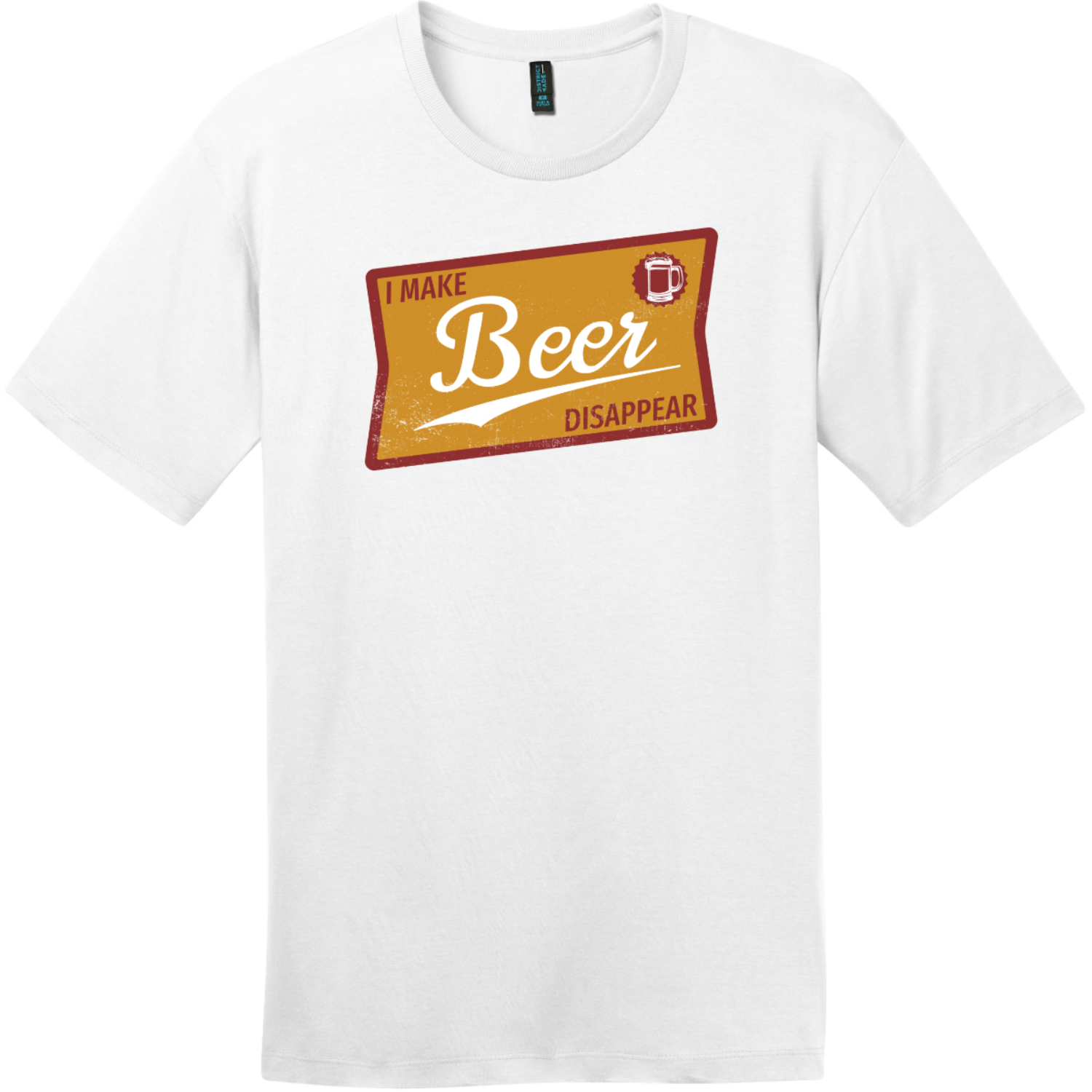 I Make Beer Disappear Vintage T Shirt Bright White District Perfect Weight Tee DT104