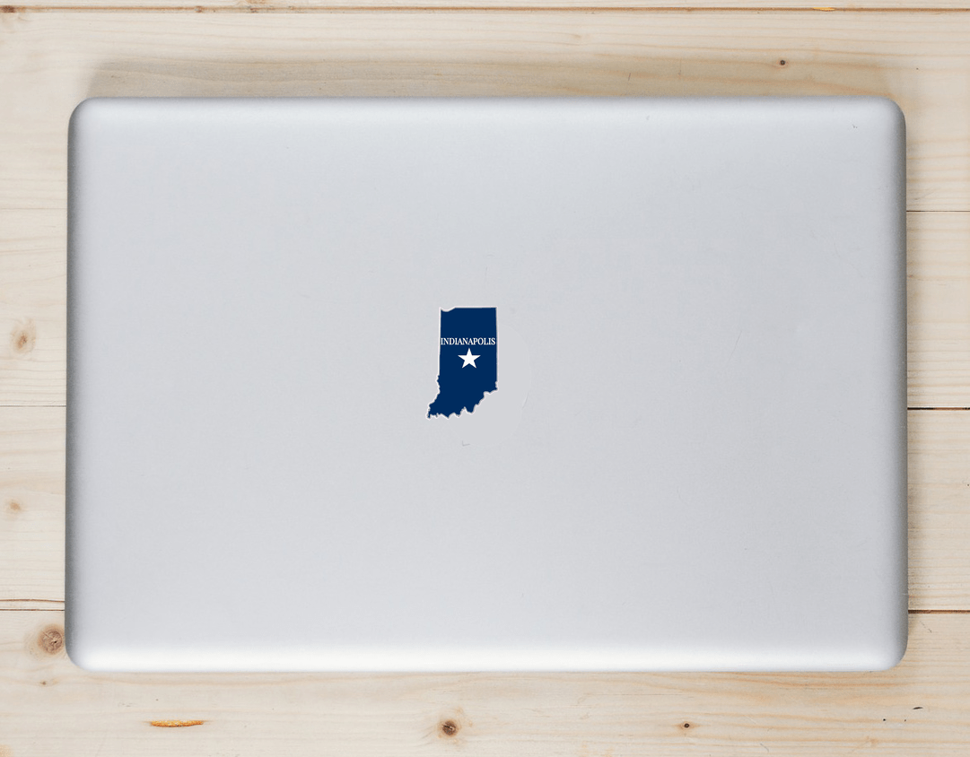 Indianapolis Indiana State Shaped Sticker Laptop Sticker