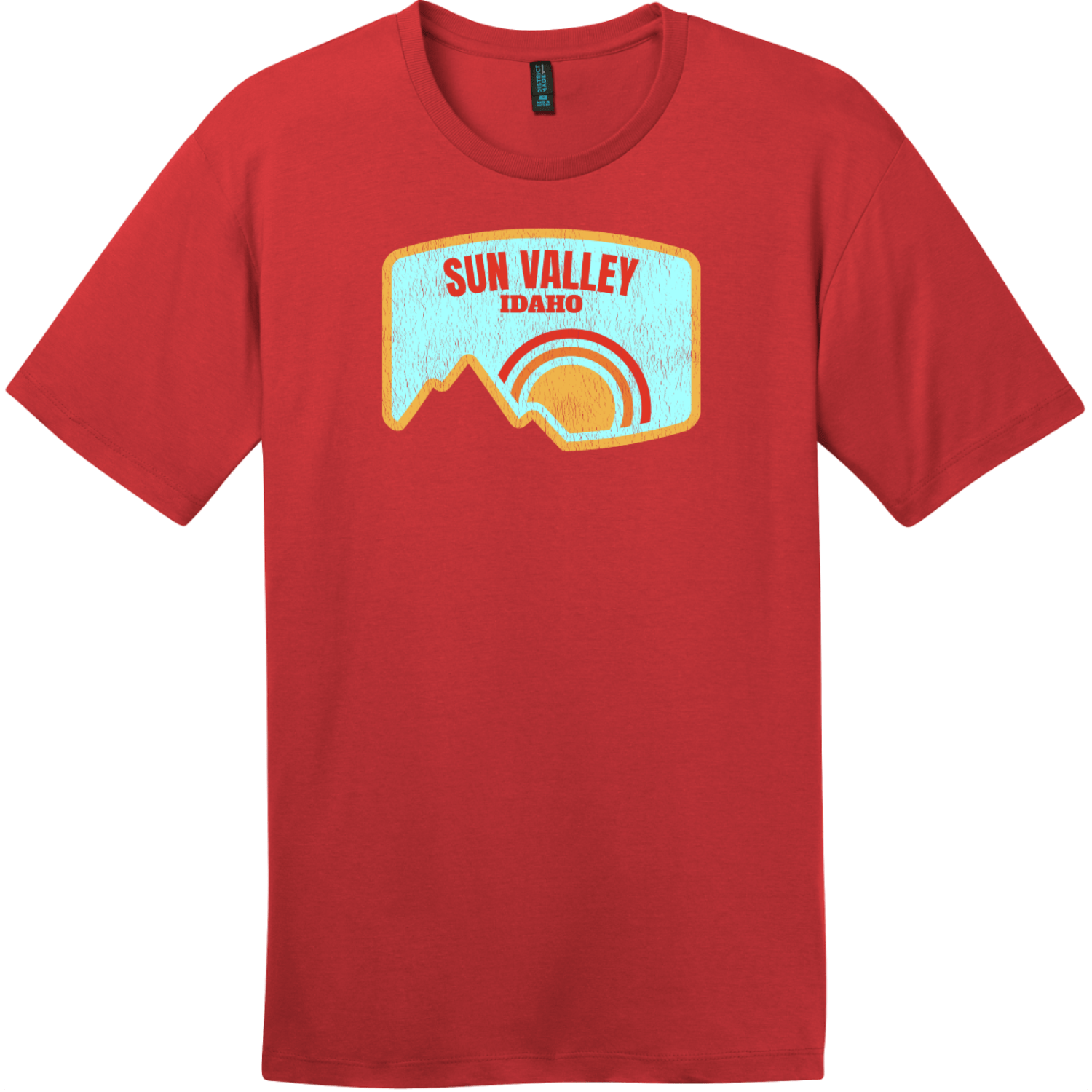 Sun Valley Idaho Mountain Vintage T-Shirt Classic Red District Perfect Weight Tee DT104