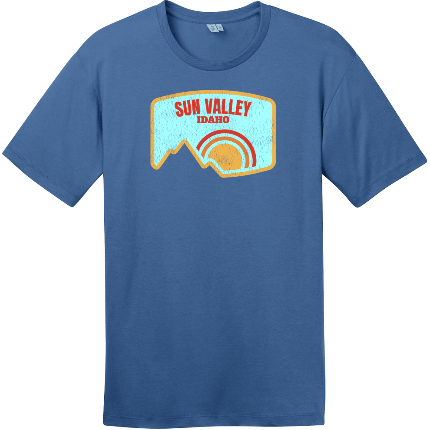 Sun Valley Idaho Mountain Vintage T-Shirt Maritime Blue District Perfect Weight Tee DT104