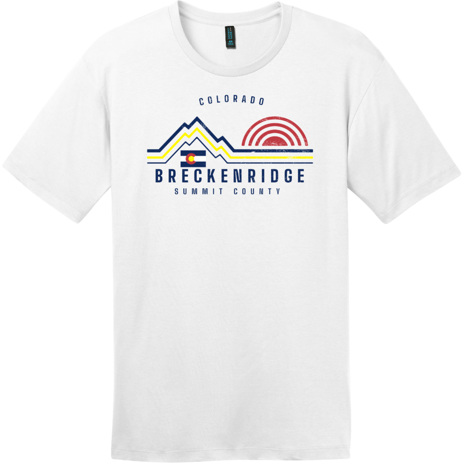 Breckenridge Mountain Summit County T-Shirt Bright White District Perfect Weight Tee DT104