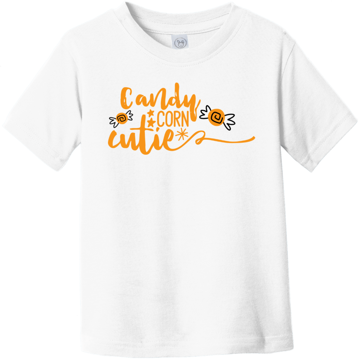 Candy Corn Cutie Toddler T-Shirt White Rabbit Skins Toddler Fine Jersey Tee RS3321