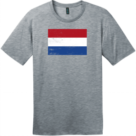 Netherlands Holland Flag Vintage T-Shirt Heathered Steel District Perfect Weight Tee DT104
