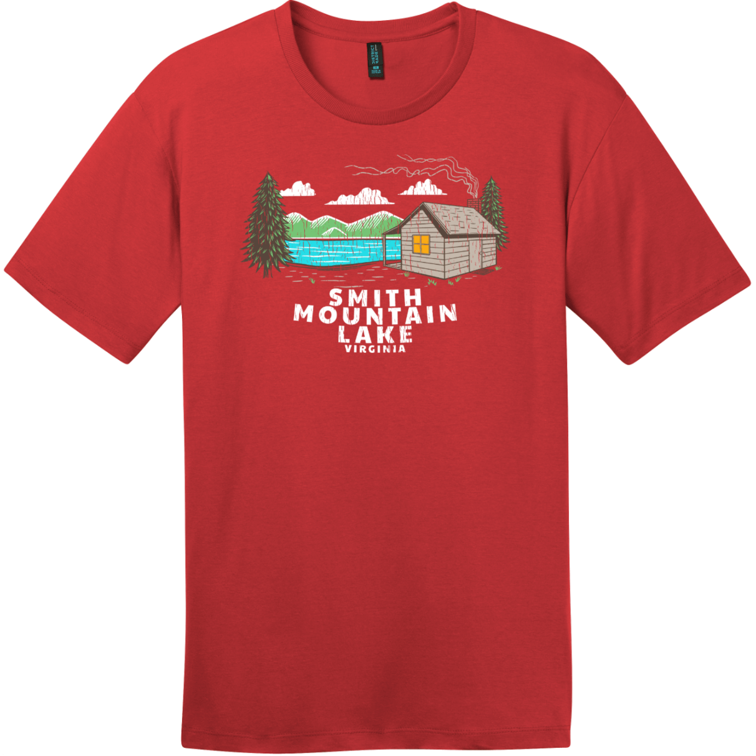 Smith Mountain Lake Vintage T-Shirt Classic Red District Perfect Weight Tee DT104