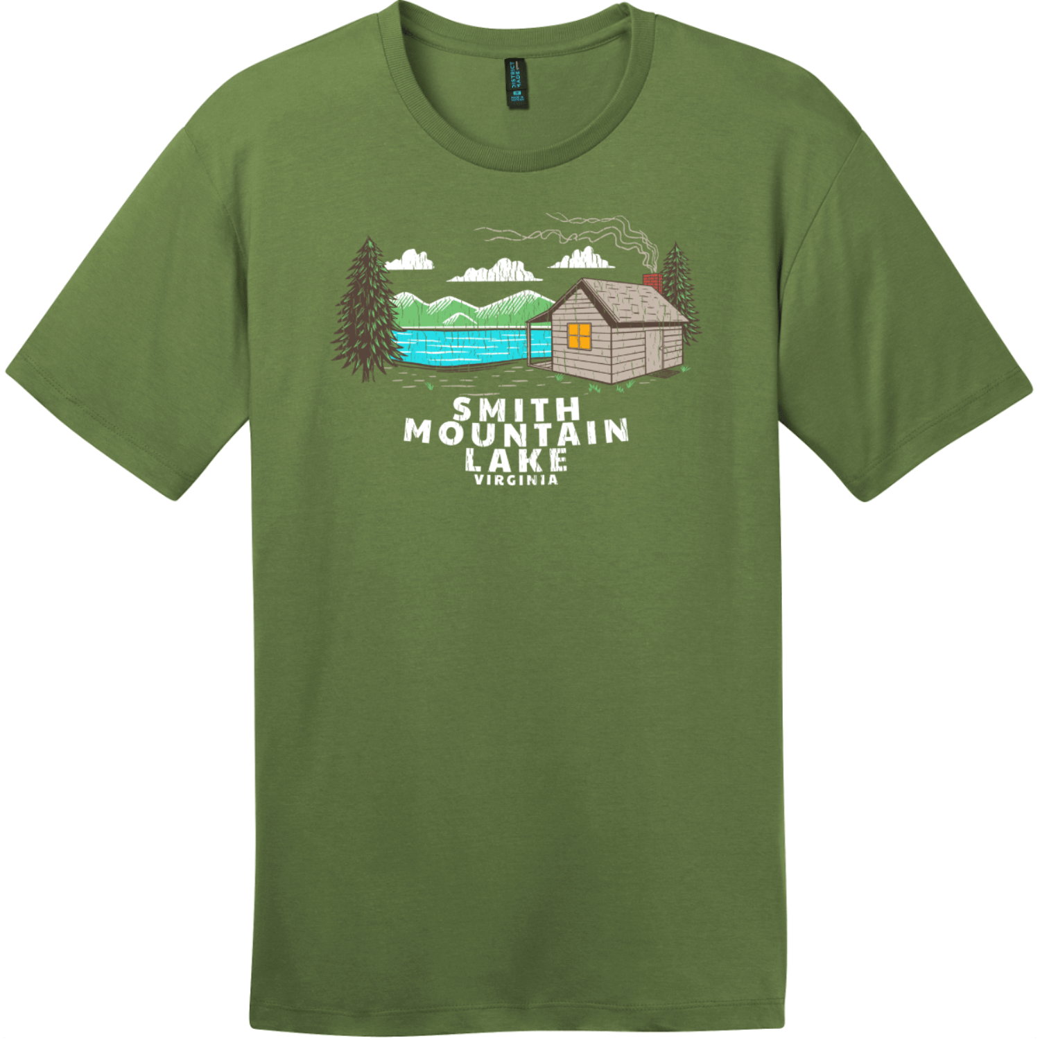 Smith Mountain Lake Vintage T-Shirt Fresh Fatigue District Perfect Weight Tee DT104