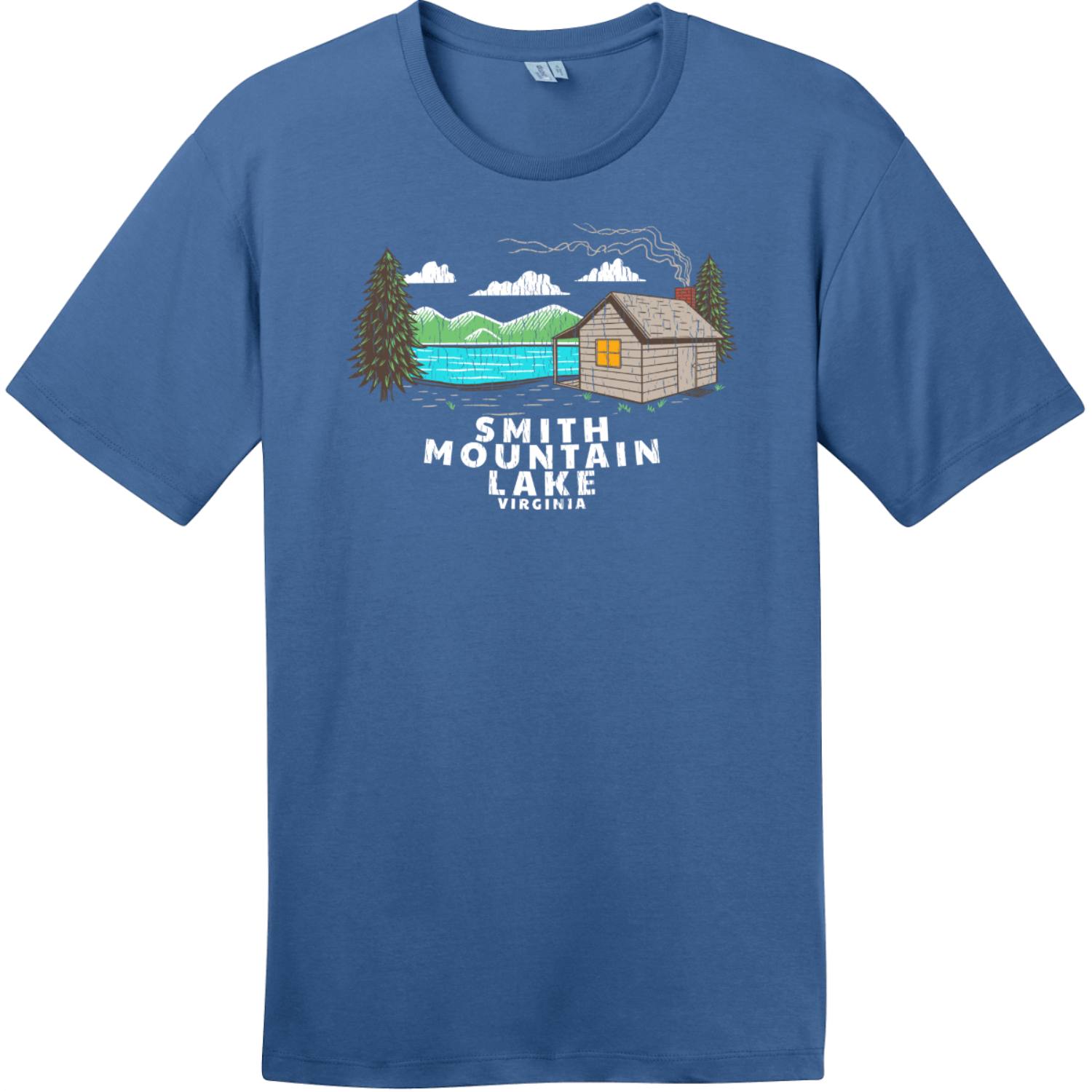 Smith Mountain Lake Vintage T-Shirt Maritime Blue District Perfect Weight Tee DT104