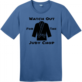 Watch Out For The Judy Chop T-Shirt Maritime Blue District Perfect Weight Tee DT104