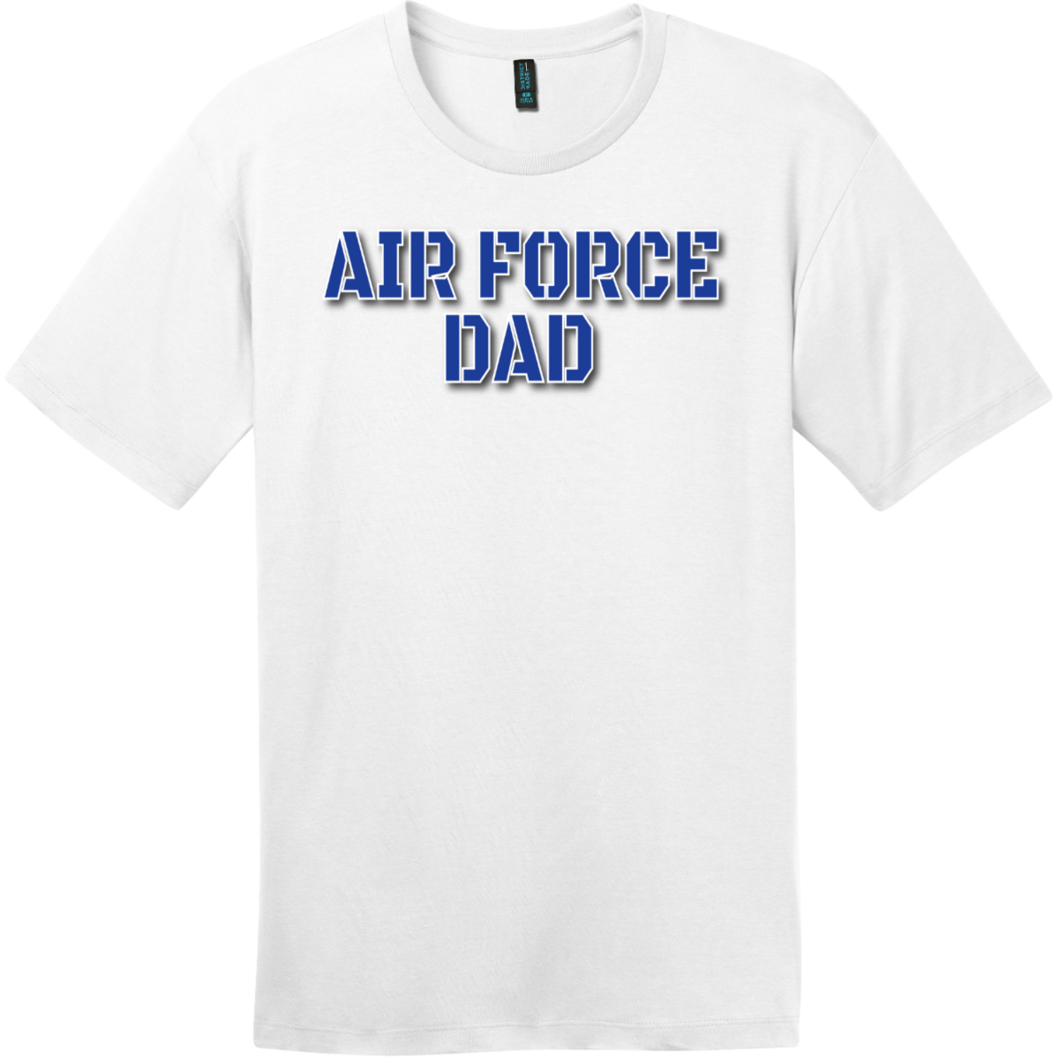 Air Force Dad T Shirt Bright White District Perfect Weight Tee DT104