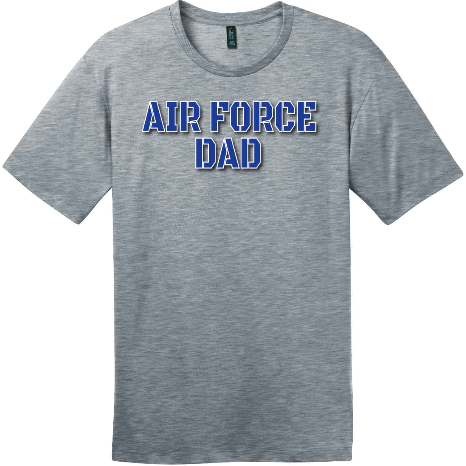 Air Force Dad T Shirt Heathered Steel District Perfect Weight Tee DT104