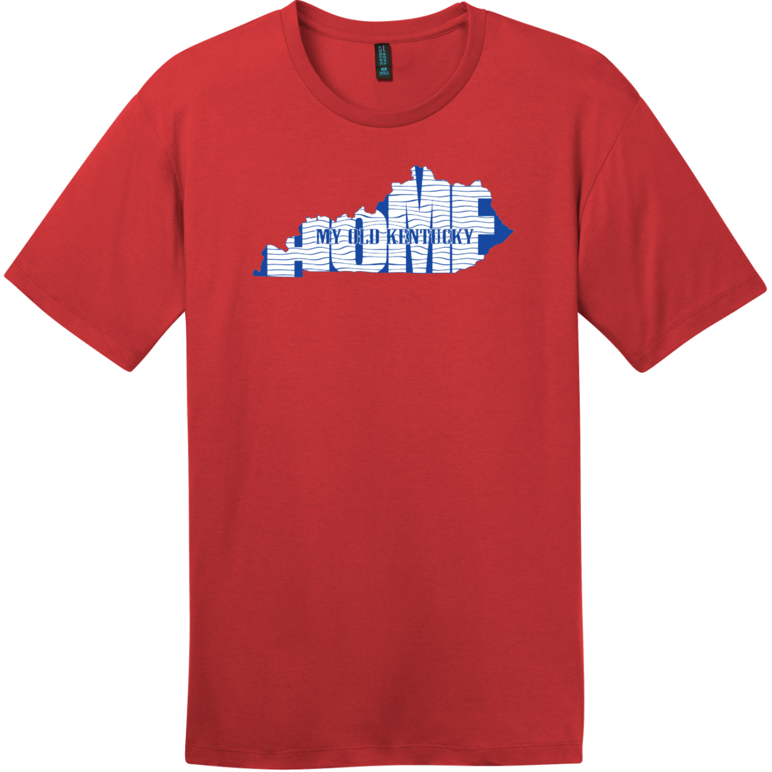 My Old Kentucky Home State T-Shirt Classic Red District Perfect Weight Tee DT104