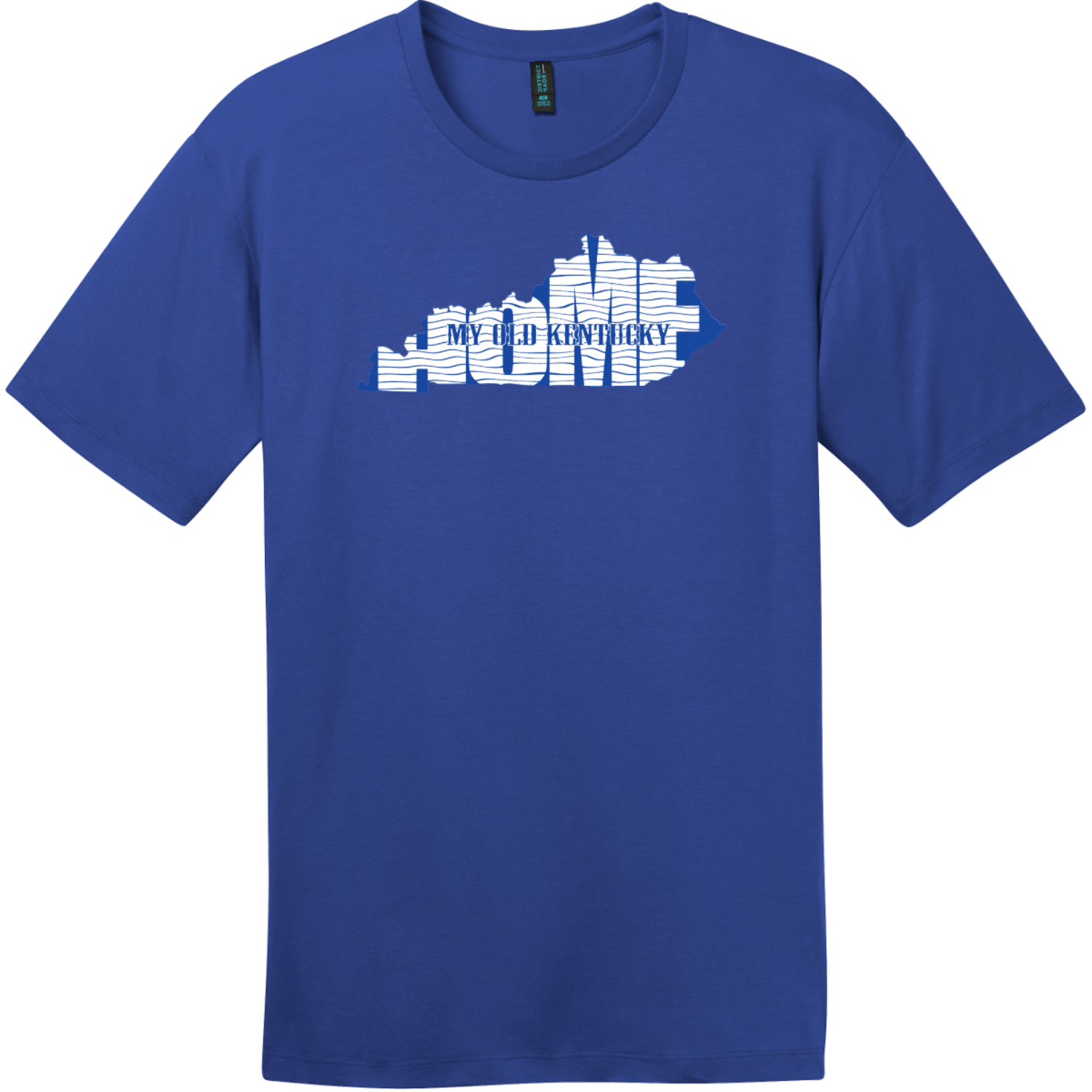 My Old Kentucky Home State T-Shirt Deep Royal District Perfect Weight Tee DT104