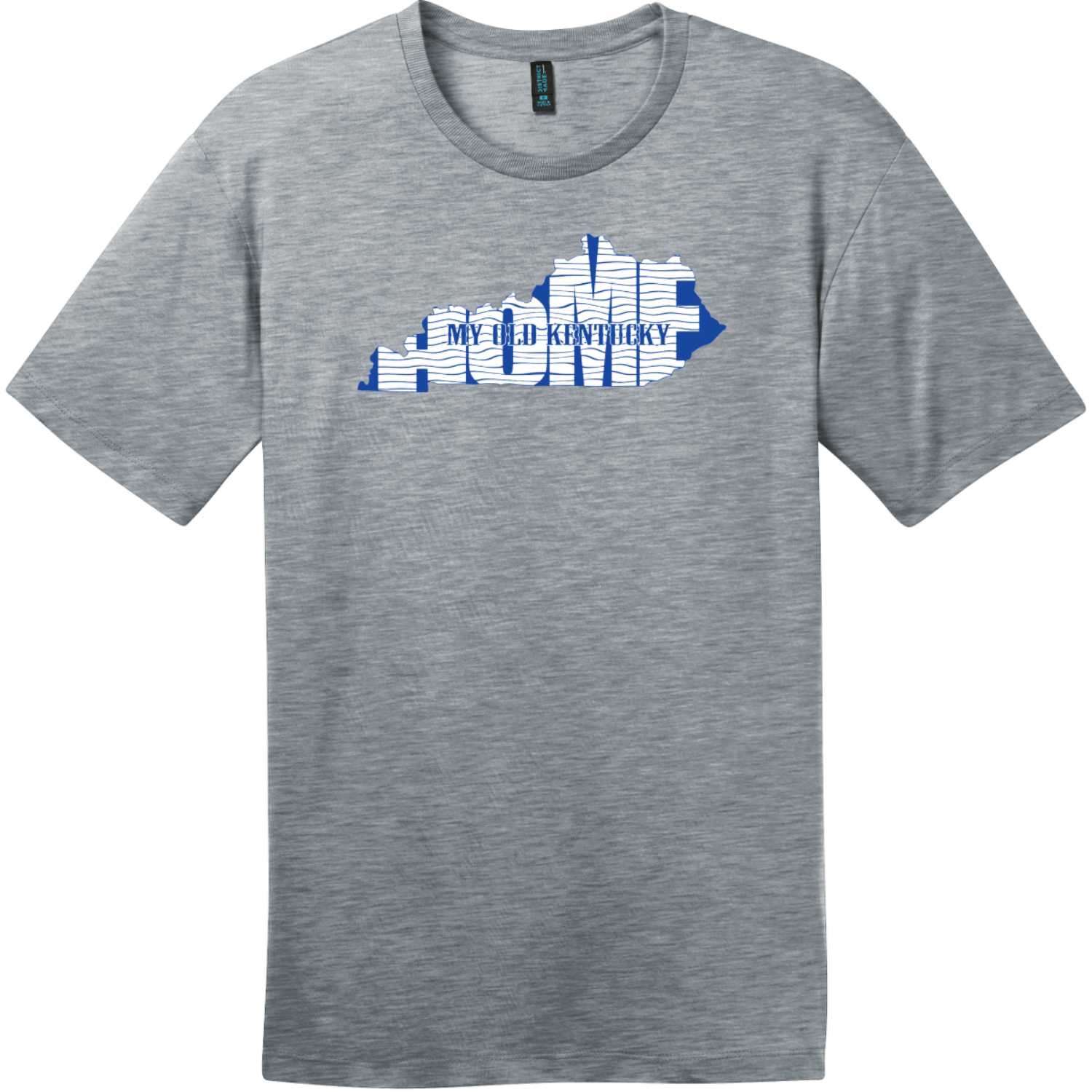 My Old Kentucky Home State T-Shirt Heathered Steel District Perfect Weight Tee DT104