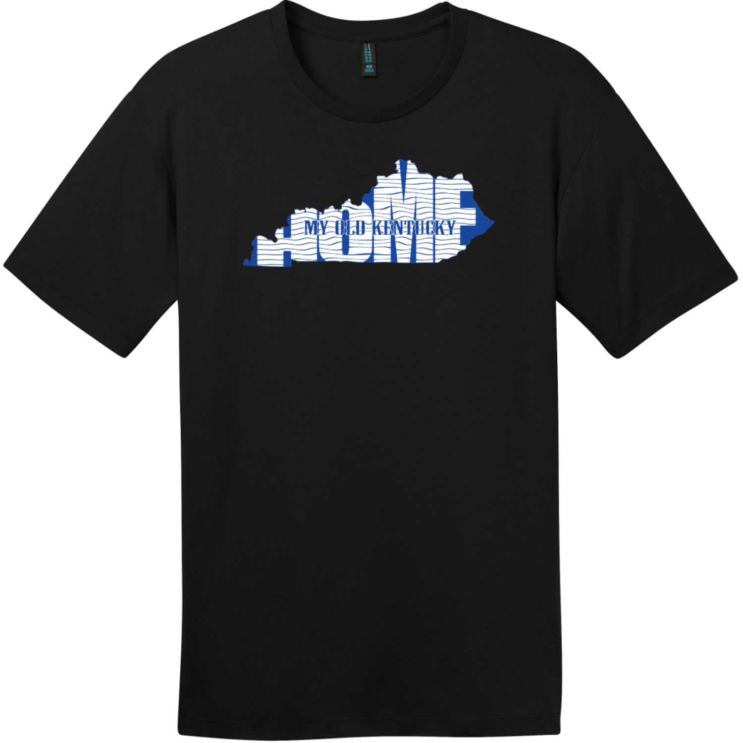 My Old Kentucky Home State T-Shirt Jet Black District Perfect Weight Tee DT104