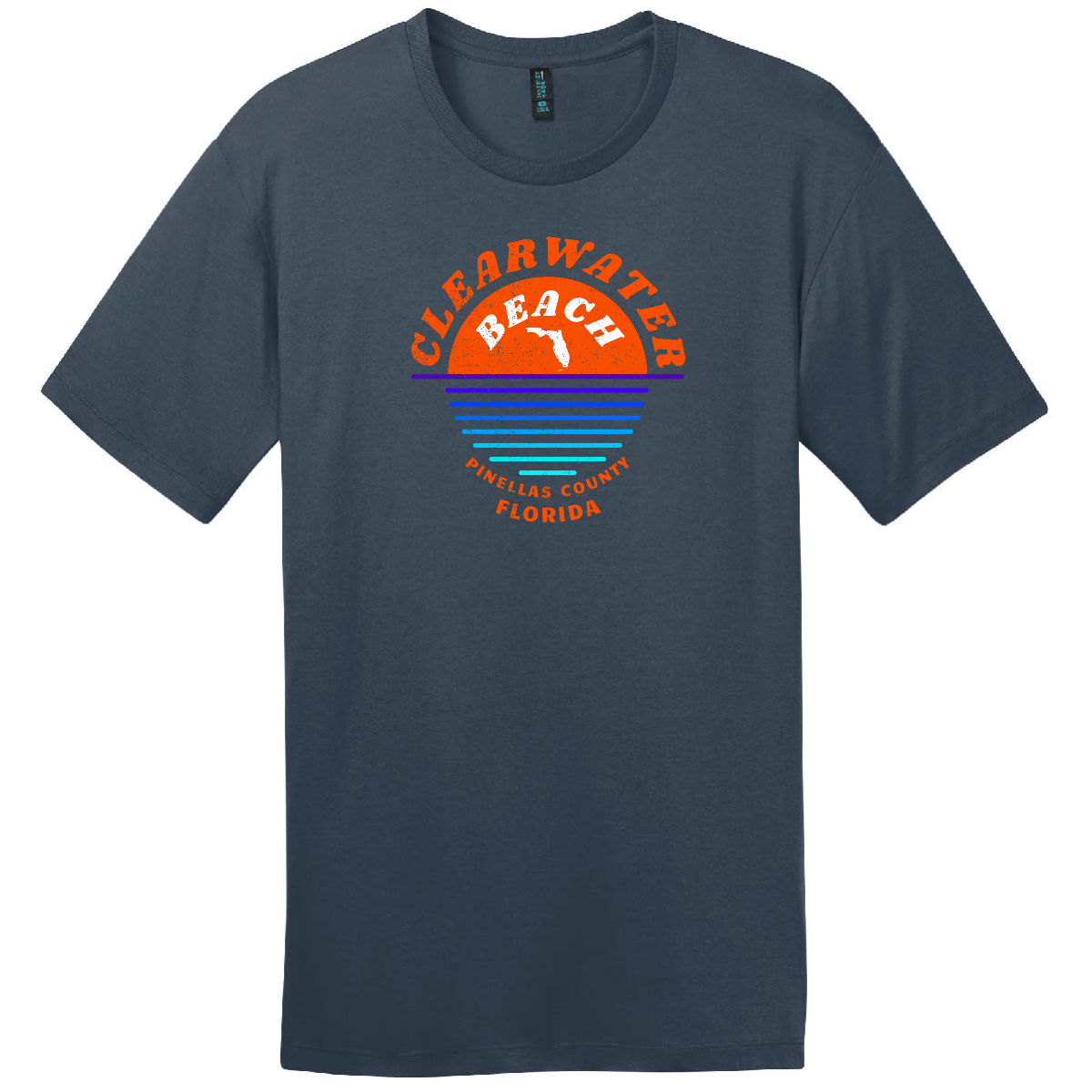 Clearwater Beach Sunset In Ocean Vintage T Shirt