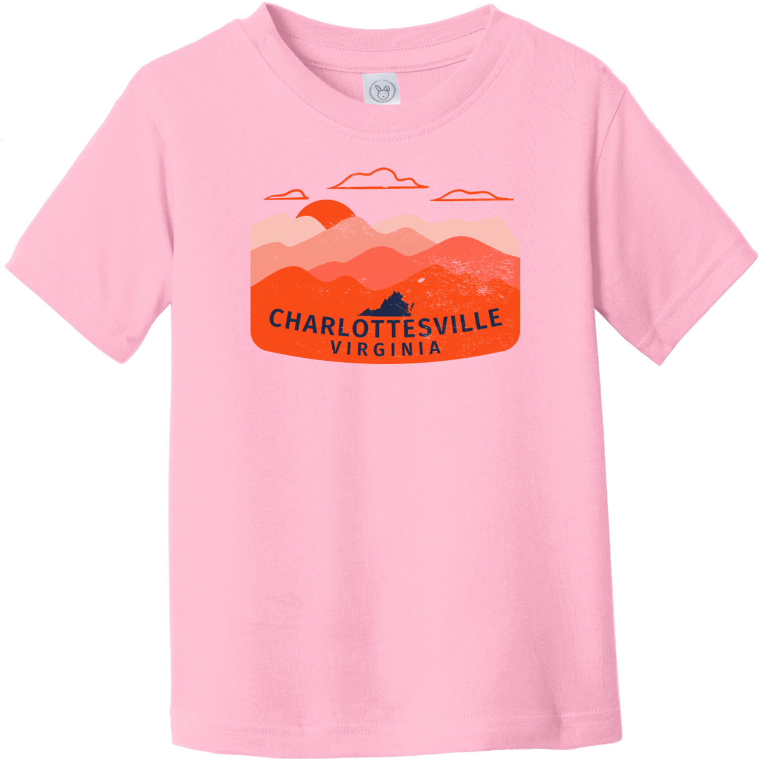 Charlottesville Virginia Outdoor Toddler T-Shirt Pink Rabbit Skins Toddler Fine Jersey Tee RS3321