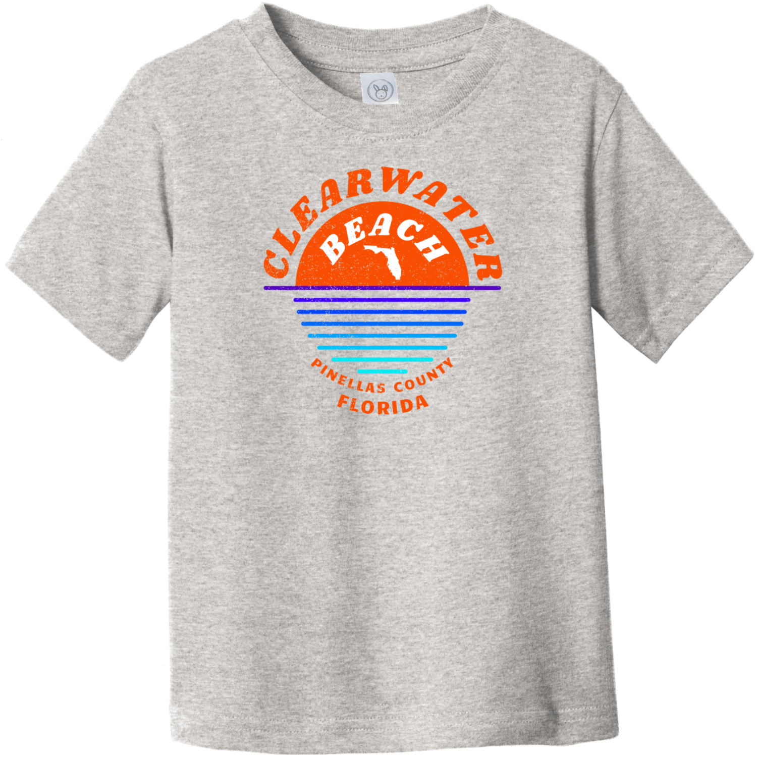 Clearwater Beach Sunset In Ocean Vintage Toddler T-Shirt Heather Rabbit Skins Toddler Fine Jersey Tee RS3321