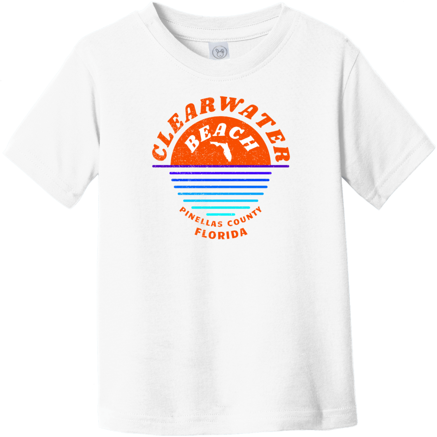 Clearwater Beach Sunset In Ocean Vintage Toddler T-Shirt White Rabbit Skins Toddler Fine Jersey Tee RS3321